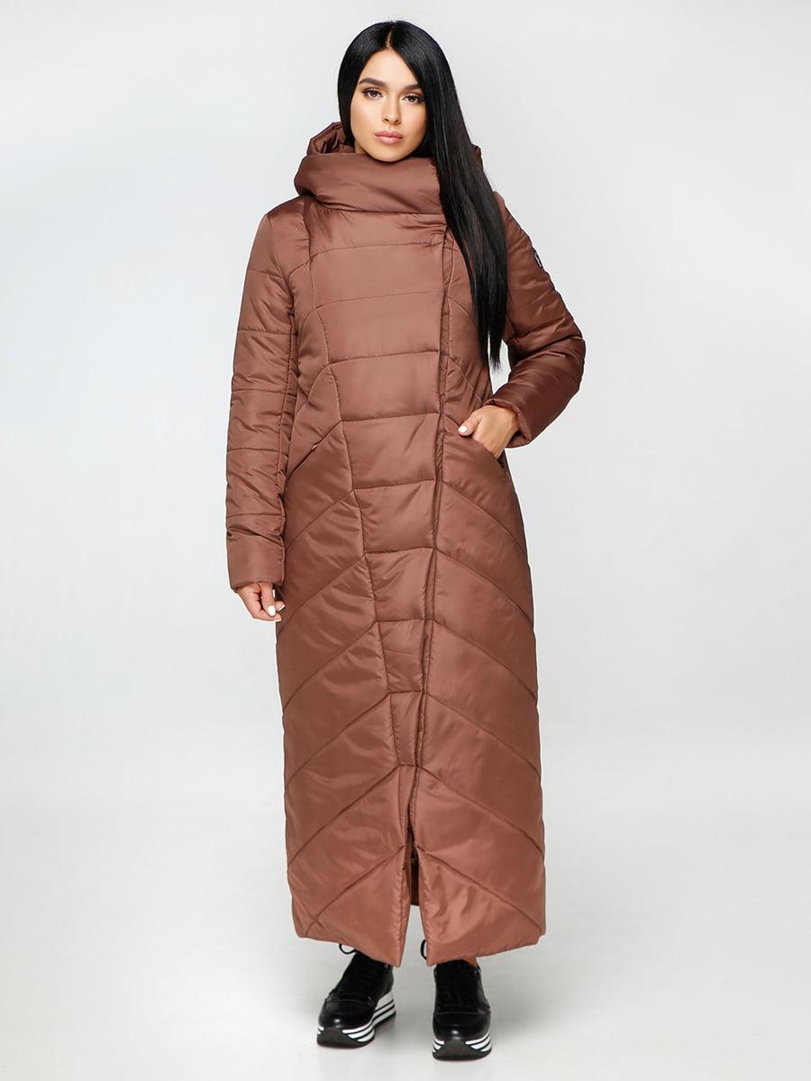 Пуховик коричневый   4735108