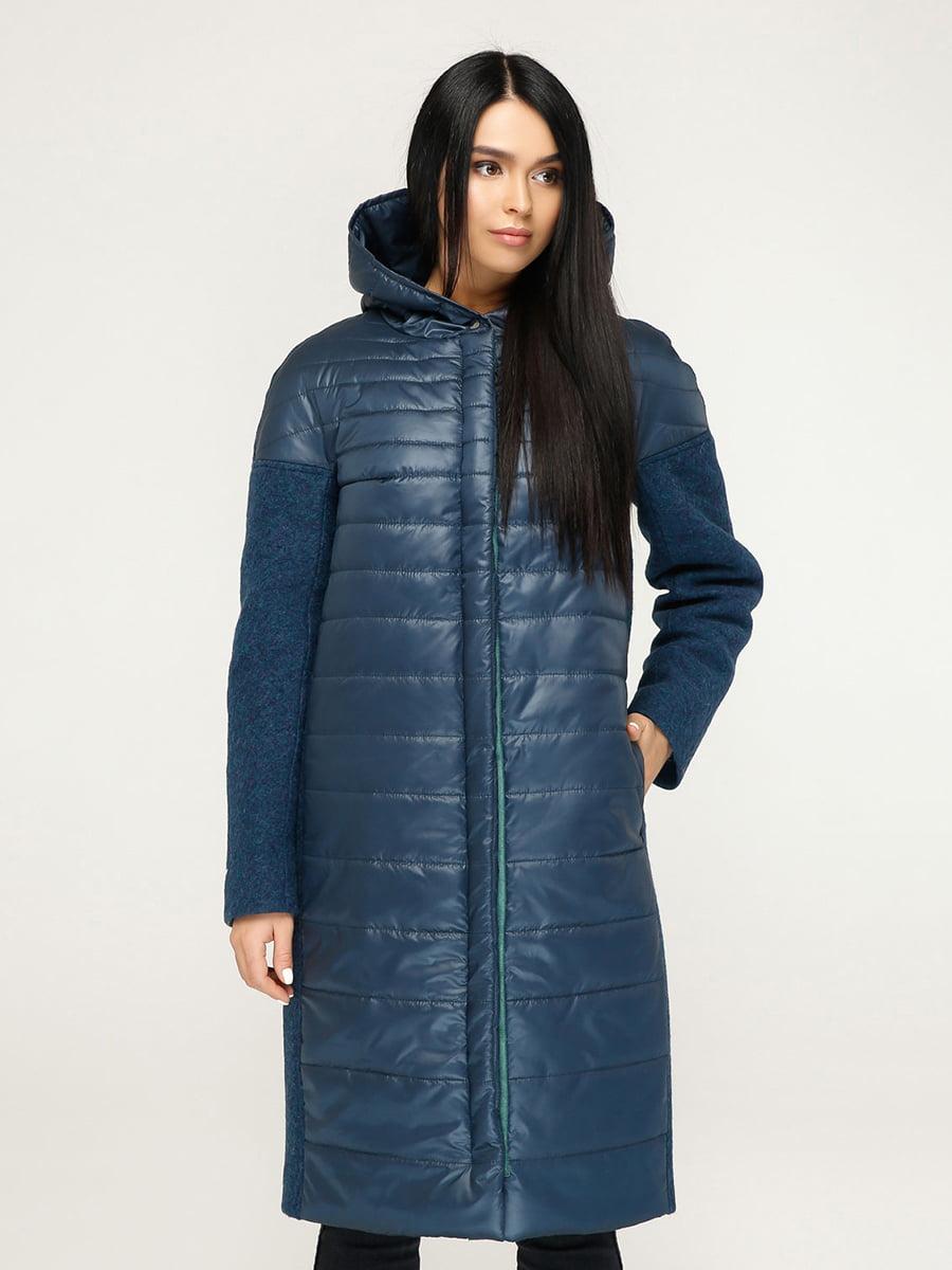 Пальто голубое | 4735127 | фото 4