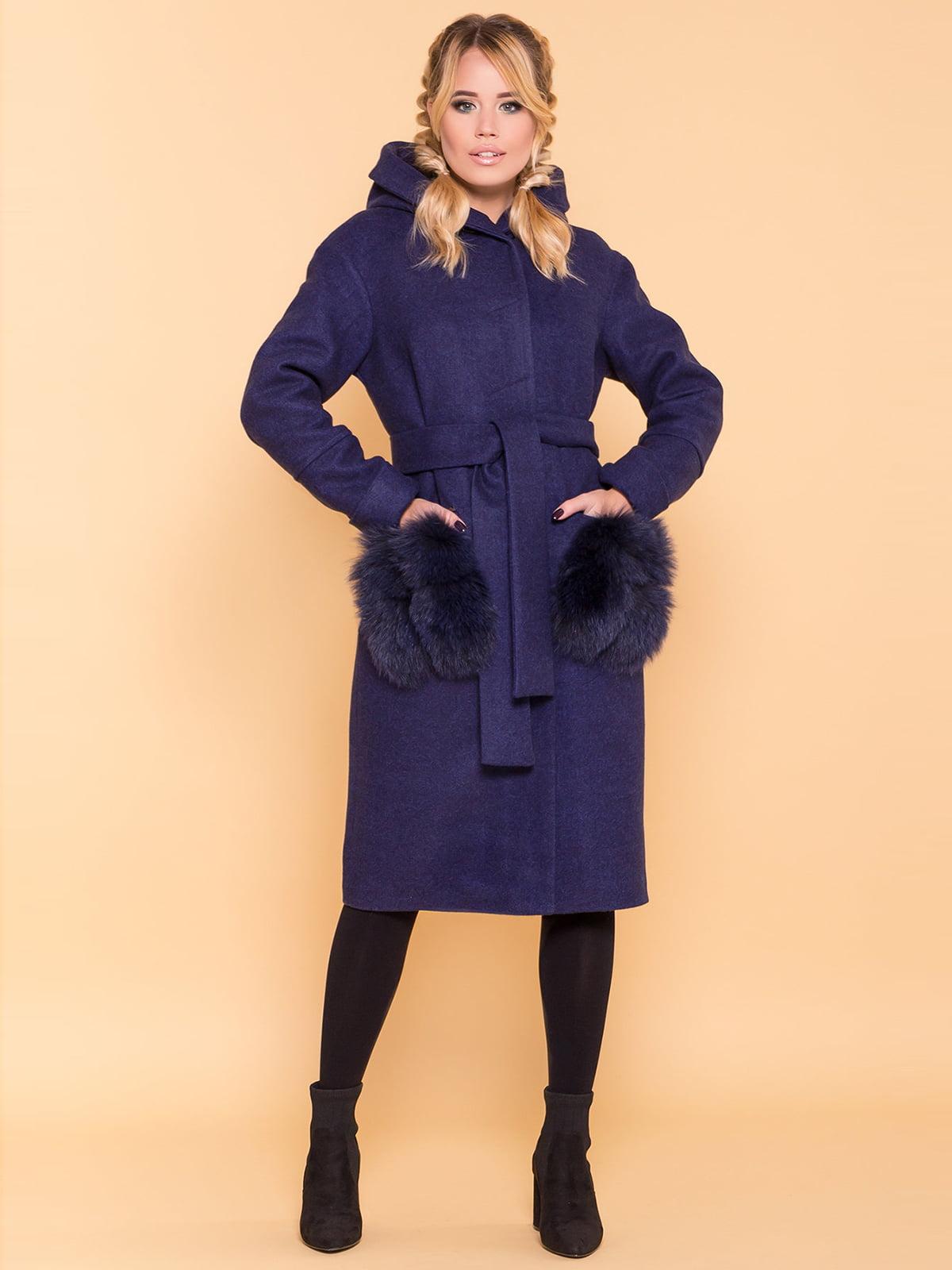 Пальто темно-синее | 4695792