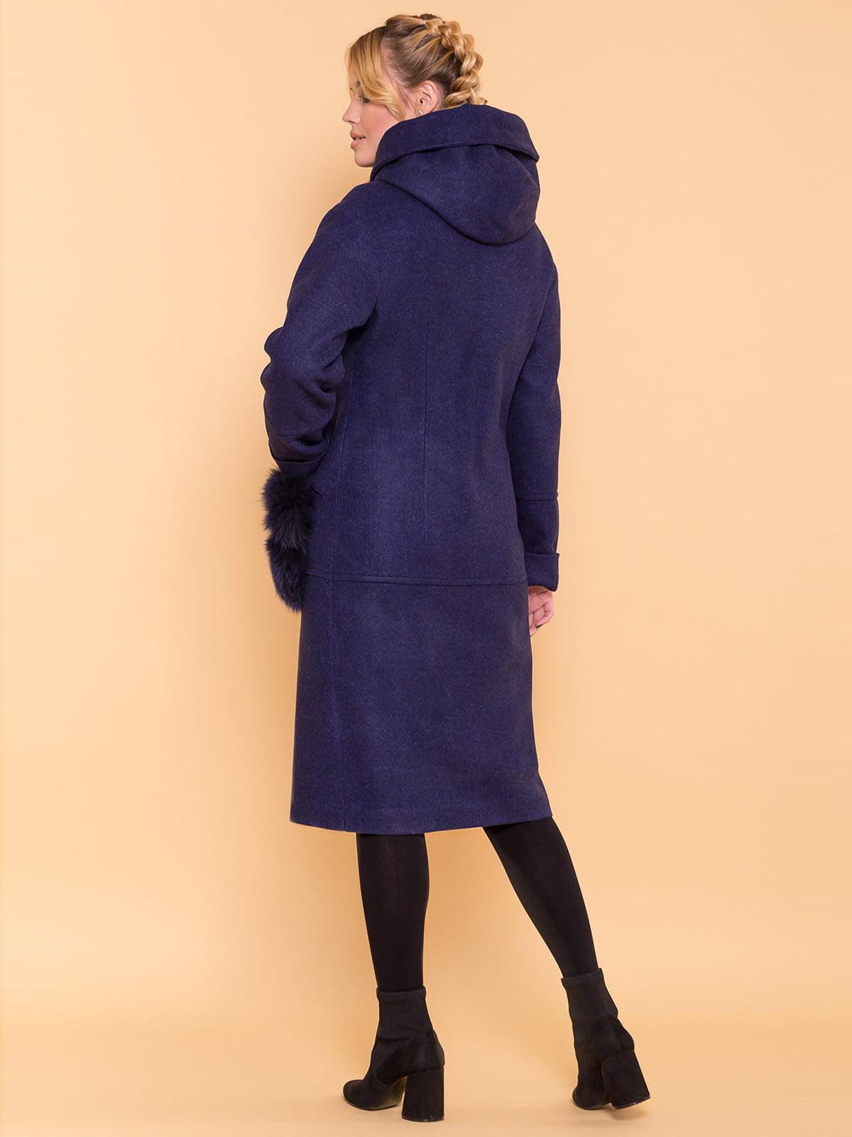 Пальто темно-синее | 4695792 | фото 2
