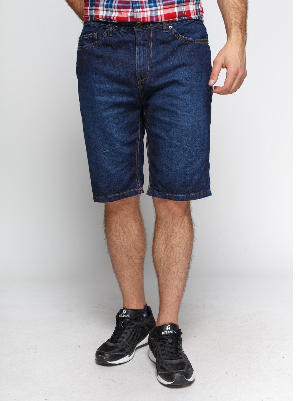 Шорты темно-синие джинсовые | 1899121