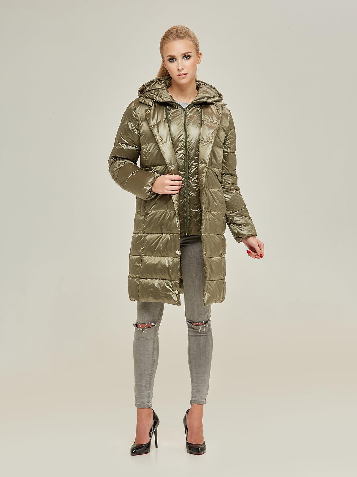 Куртка оливкового кольору | 4738769