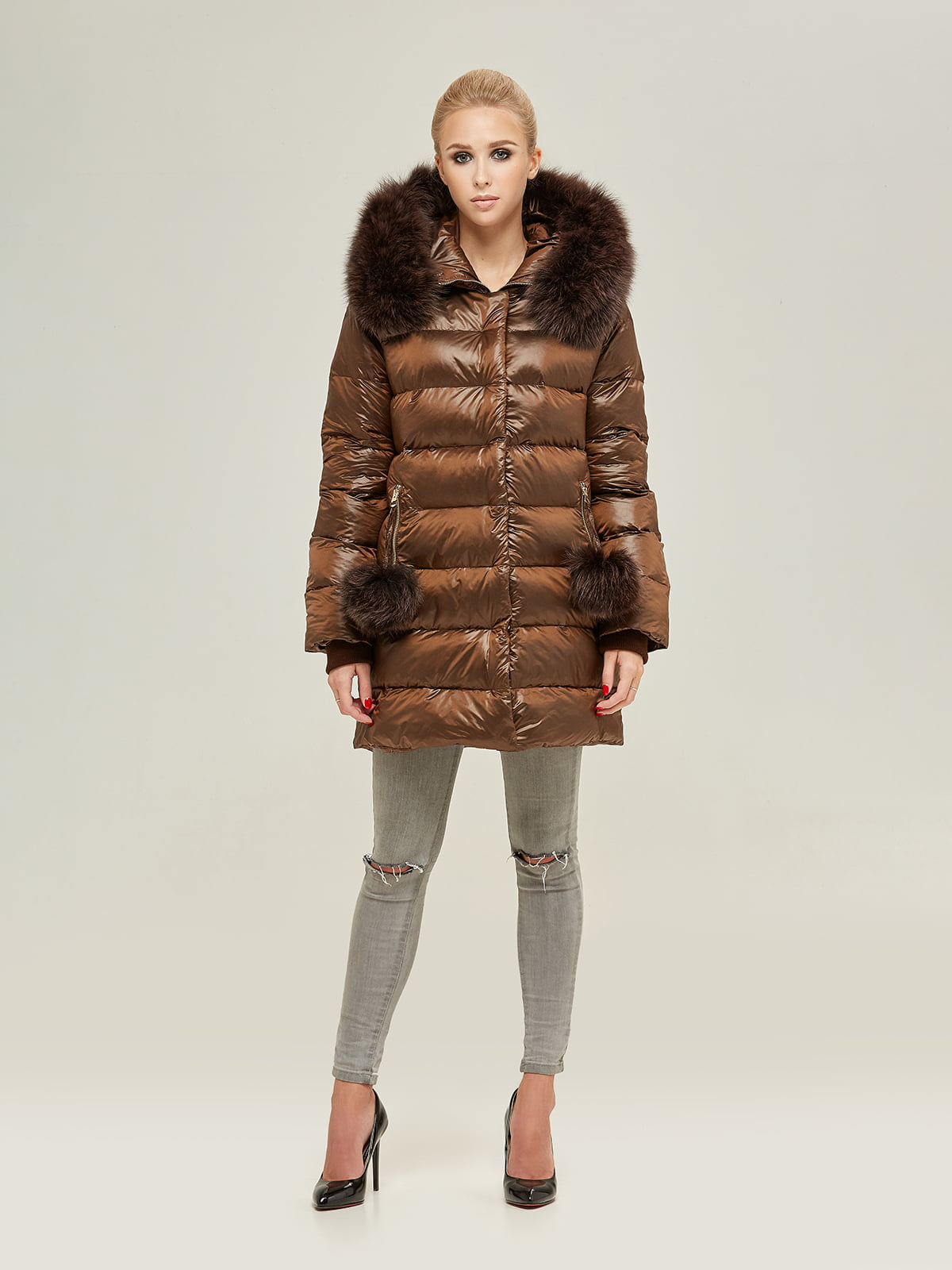 Куртка шоколадного цвета | 4738781