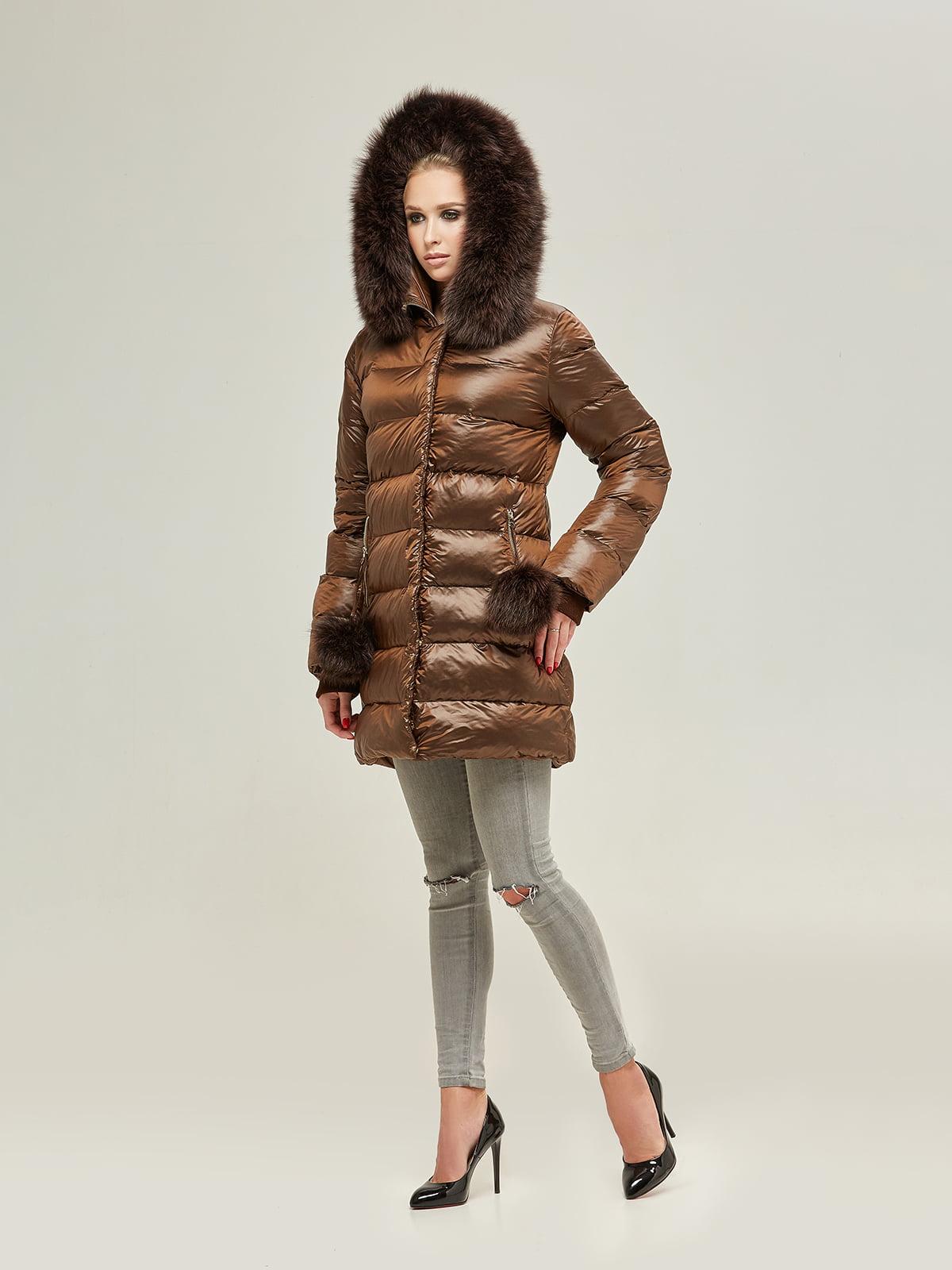 Куртка шоколадного цвета | 4738781 | фото 2