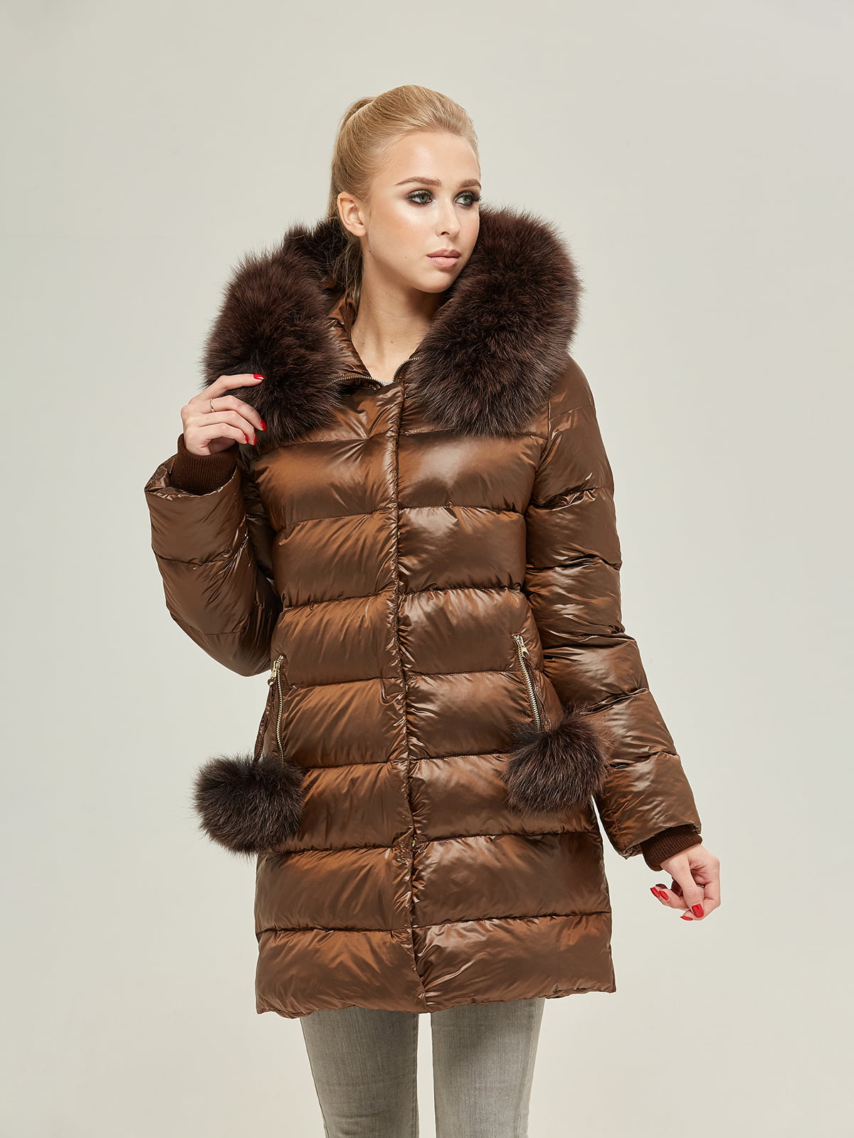 Куртка шоколадного цвета | 4738781 | фото 3