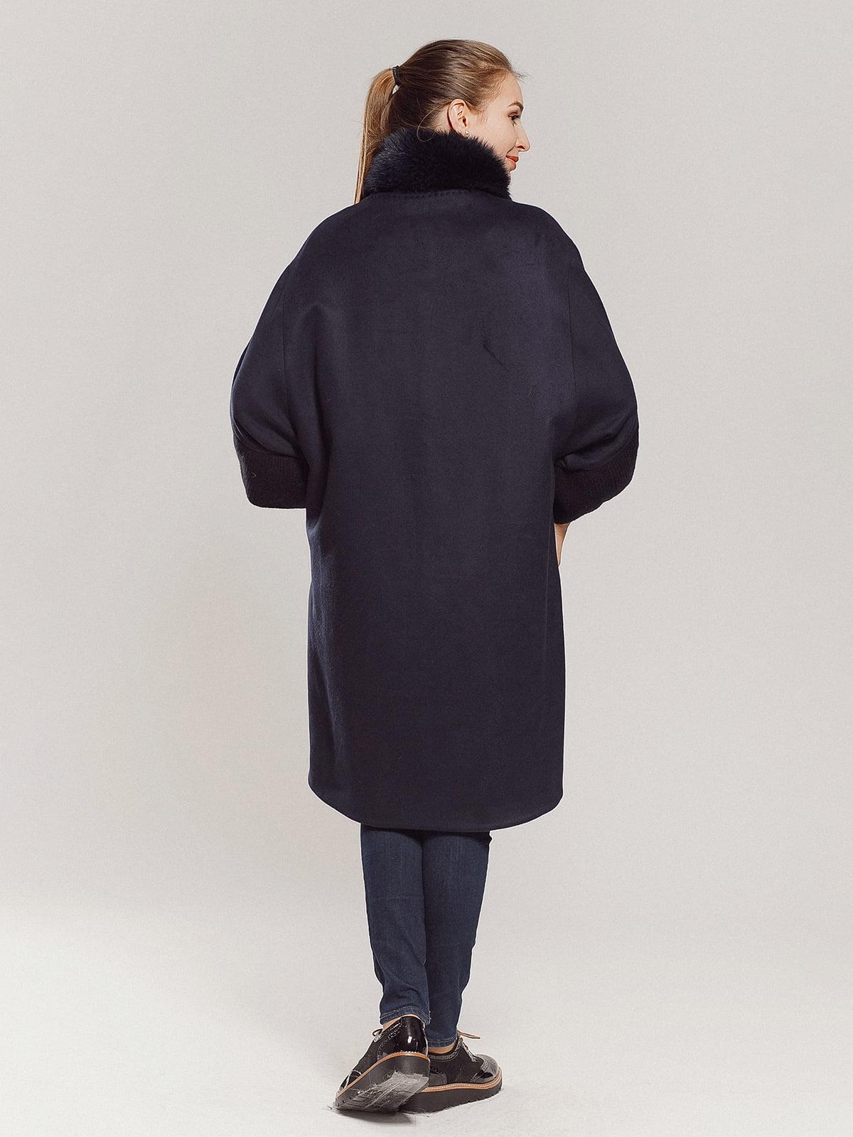 Пальто темно-синее | 4739300 | фото 2