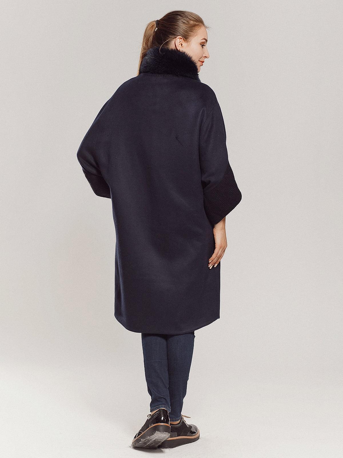 Пальто темно-синее | 4739300 | фото 3