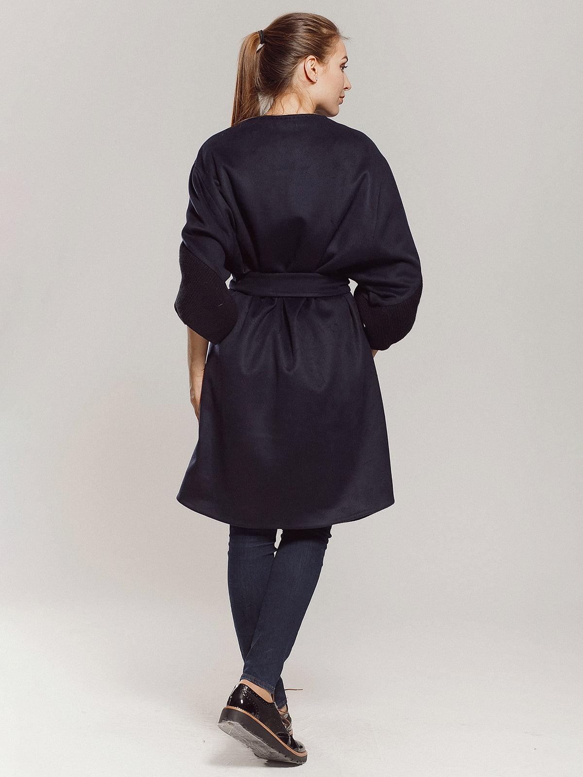 Пальто темно-синее | 4739300 | фото 7
