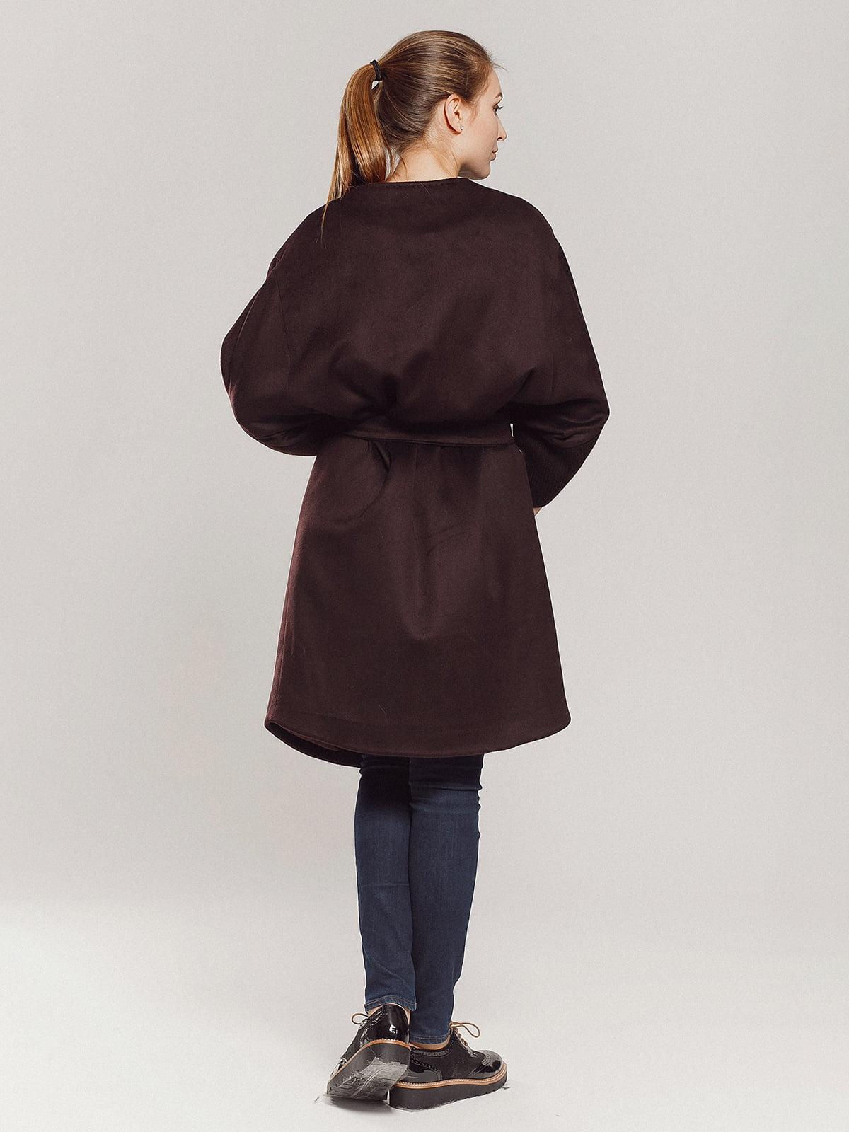 Пальто коричневое | 4739303 | фото 9
