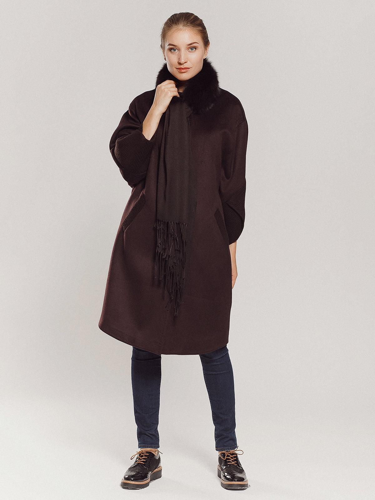 Пальто коричневое | 4739303 | фото 2
