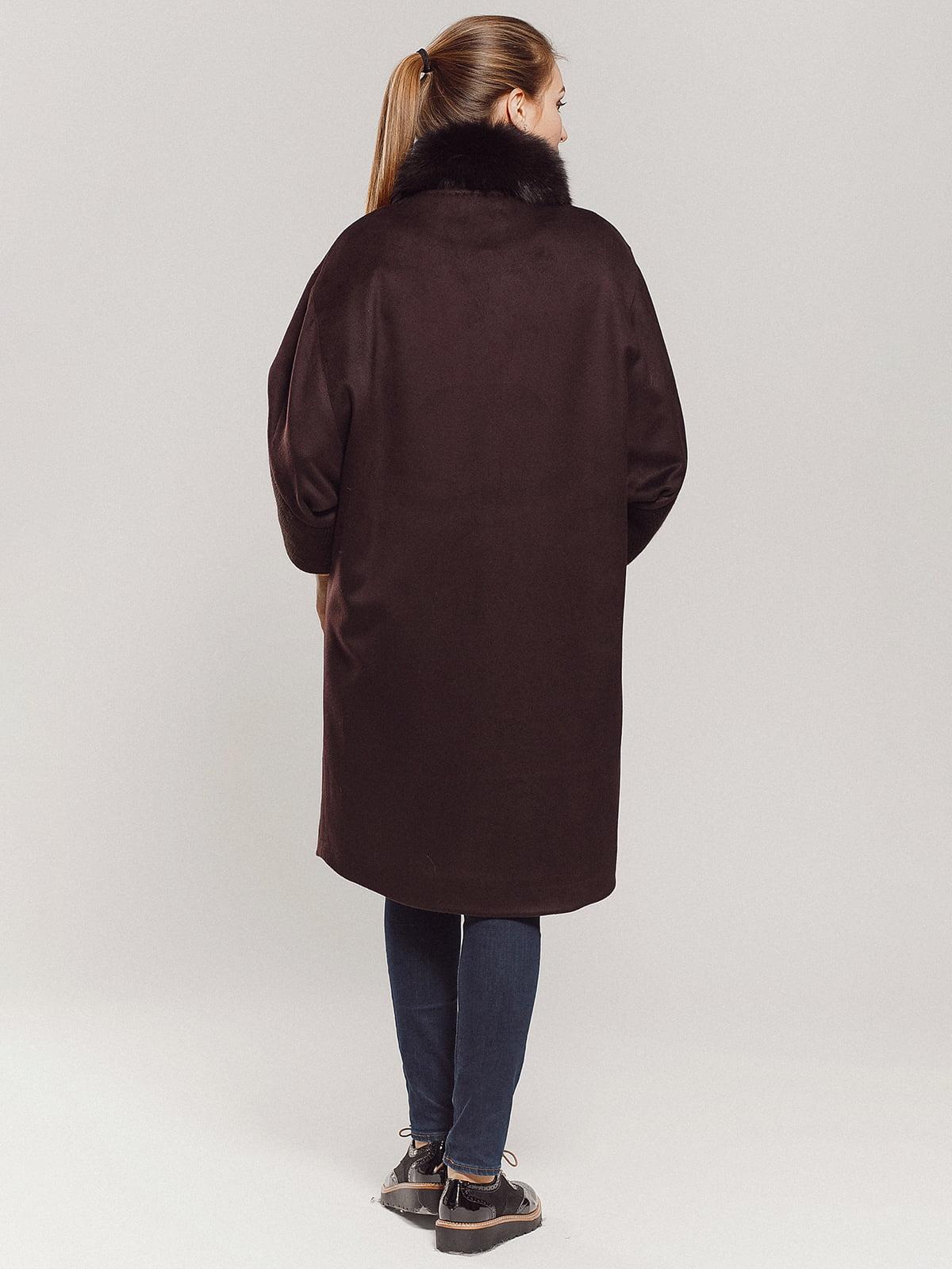 Пальто коричневое | 4739303 | фото 3