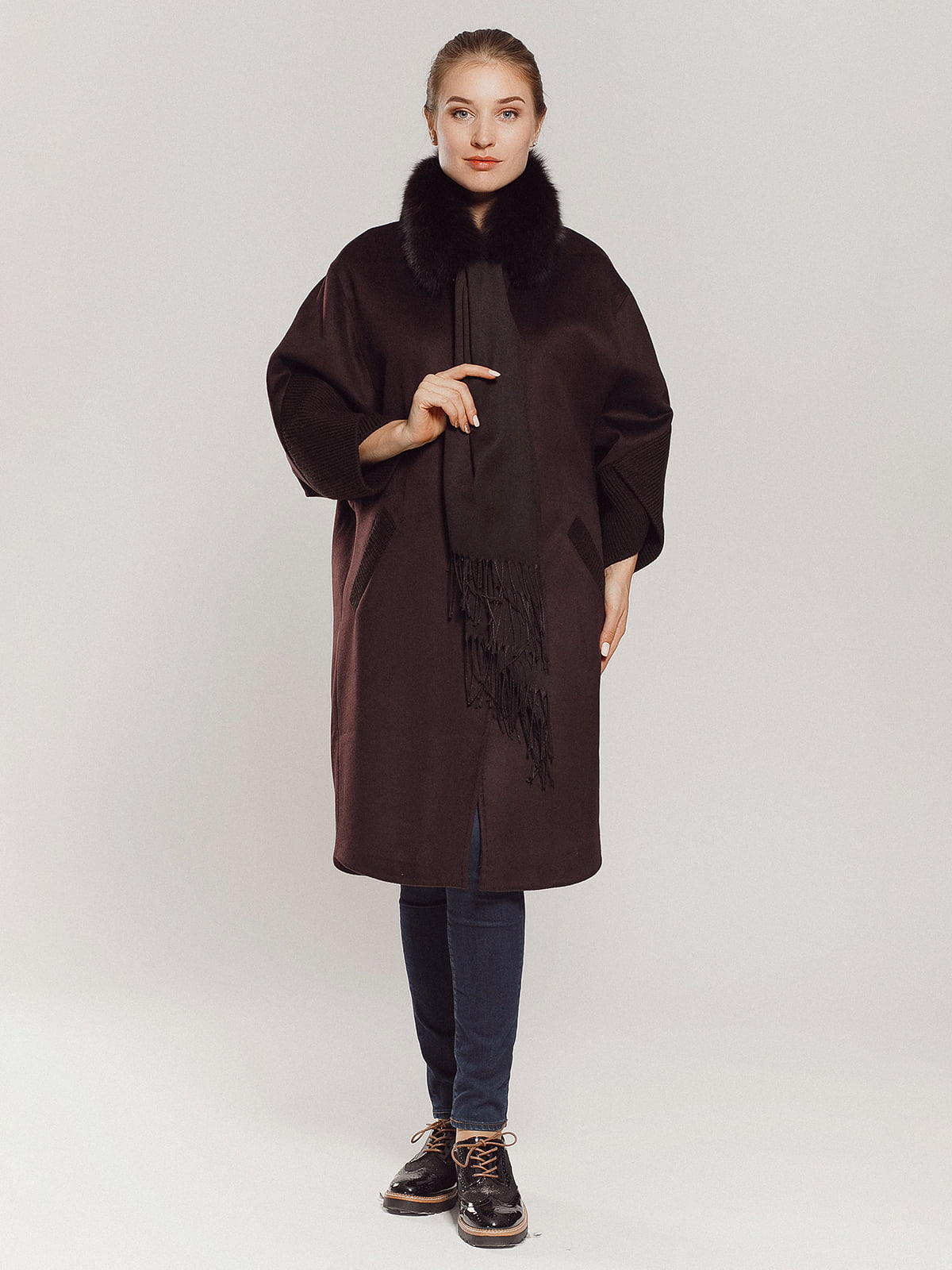Пальто коричневое | 4739303 | фото 4