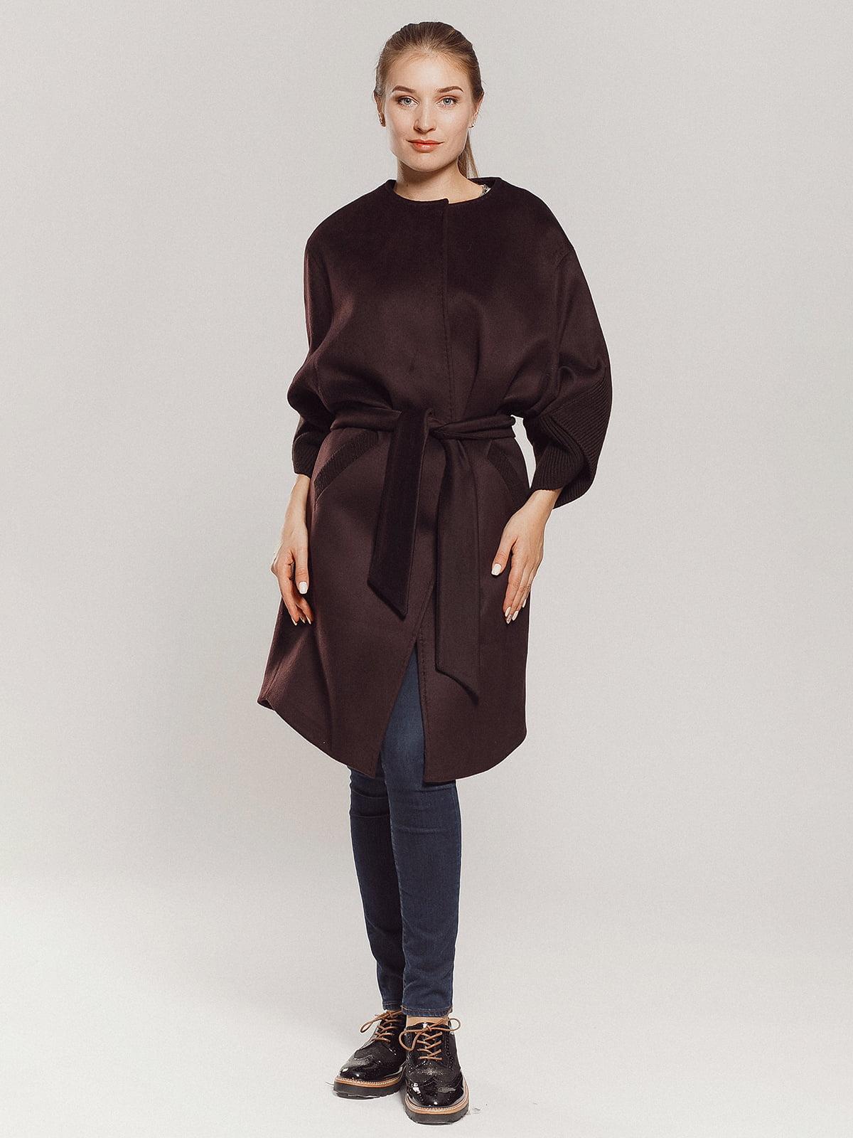 Пальто коричневое | 4739303 | фото 5