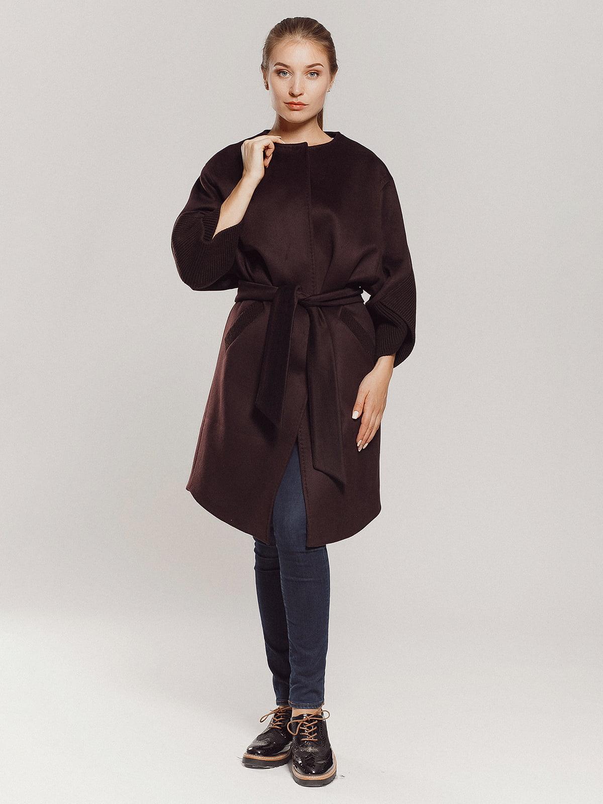 Пальто коричневое | 4739303 | фото 6