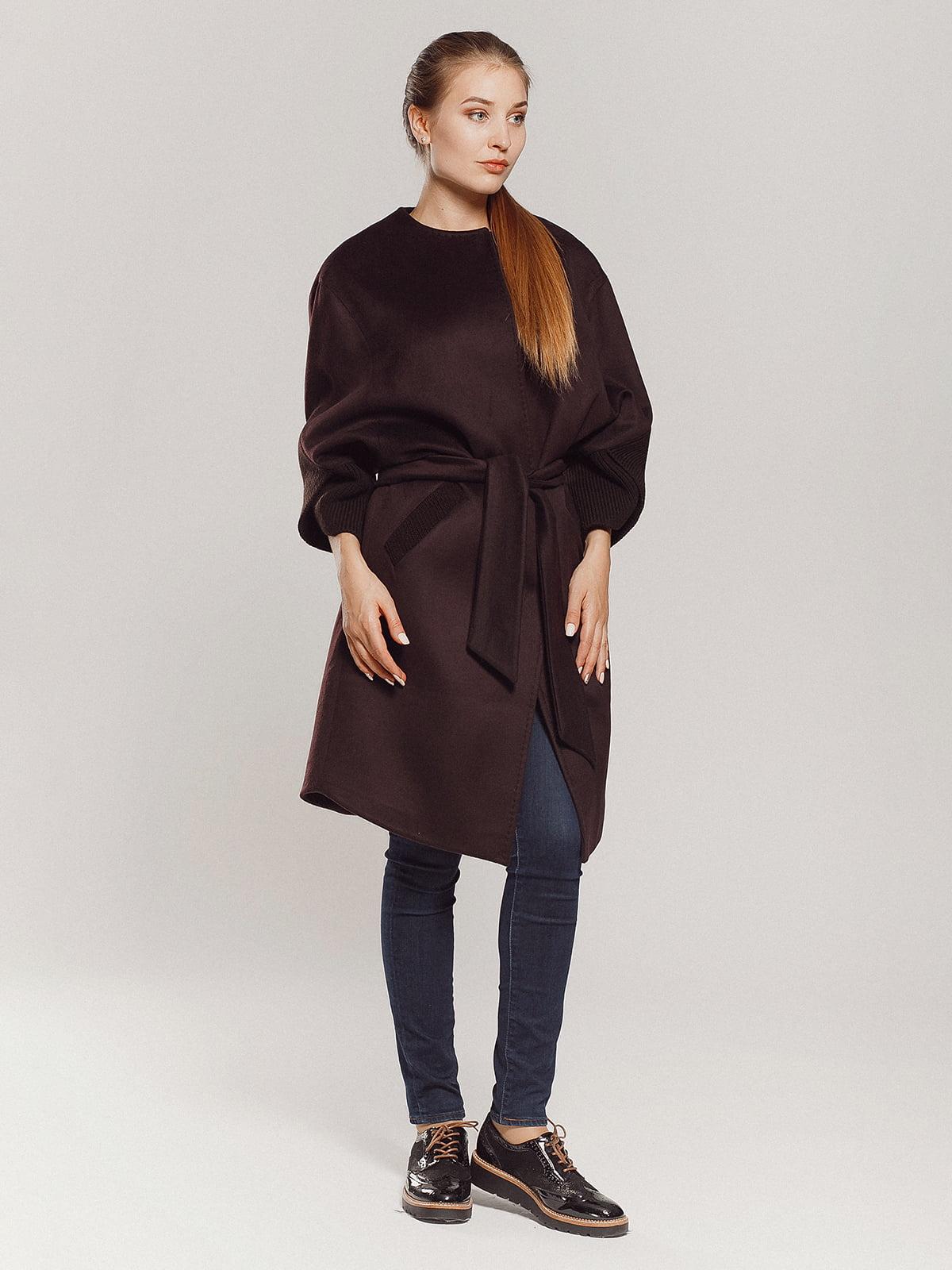 Пальто коричневое | 4739303 | фото 7