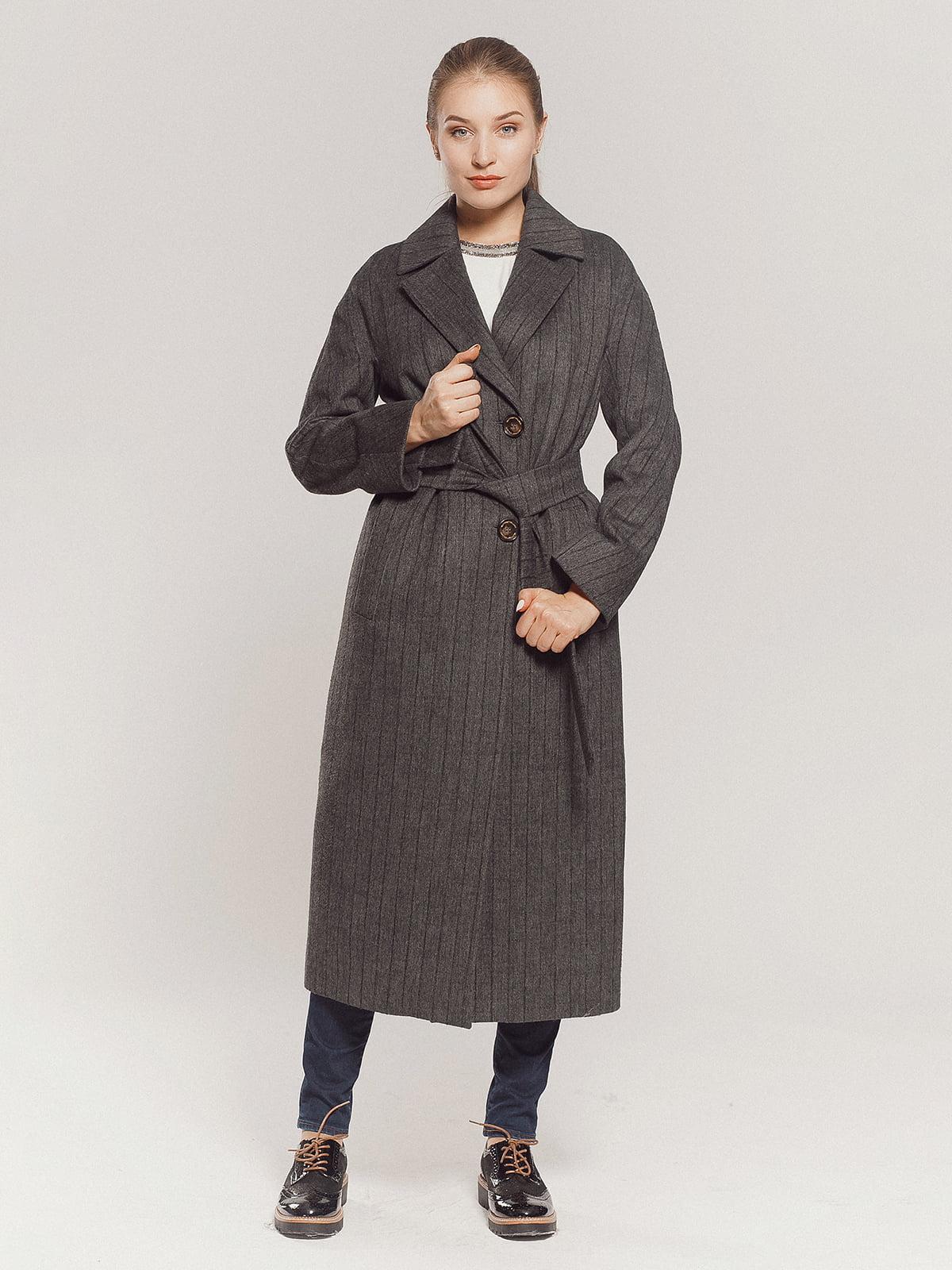 Пальто серое | 4739331 | фото 3