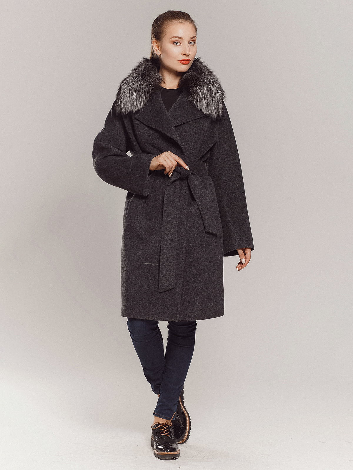 Пальто серое | 4739366 | фото 2