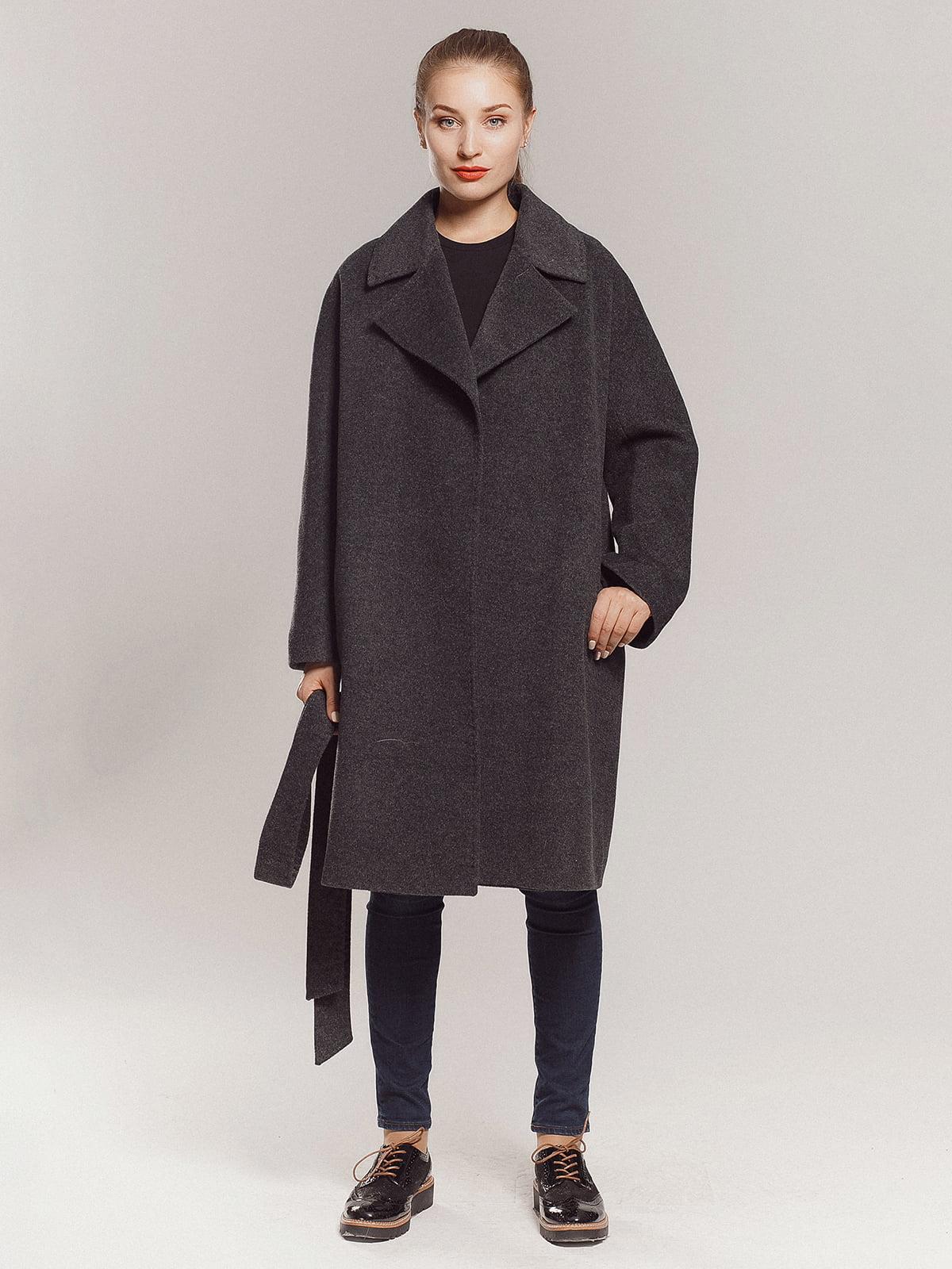 Пальто сіре | 4739366 | фото 3