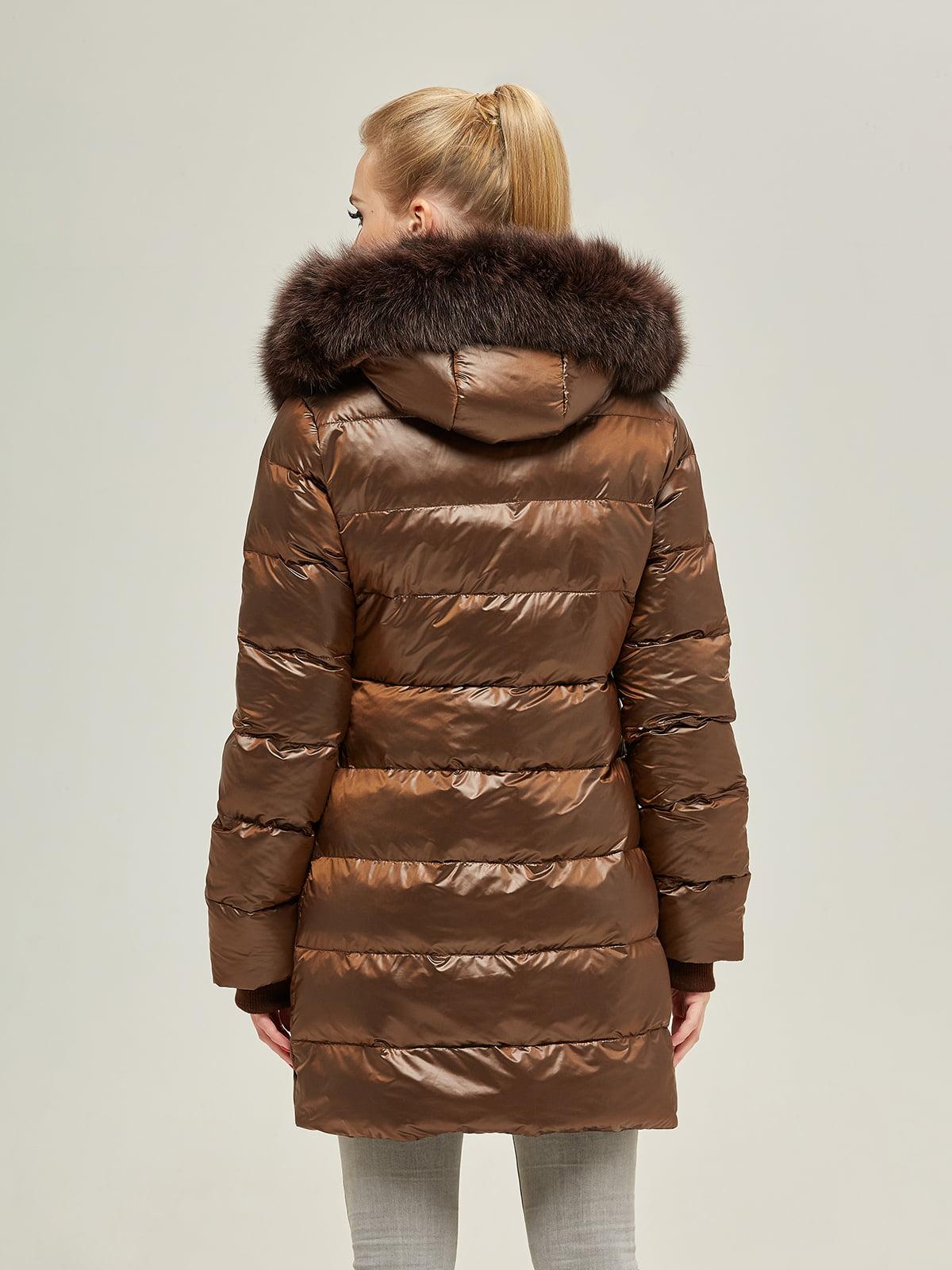 Куртка шоколадного цвета | 4738781 | фото 4