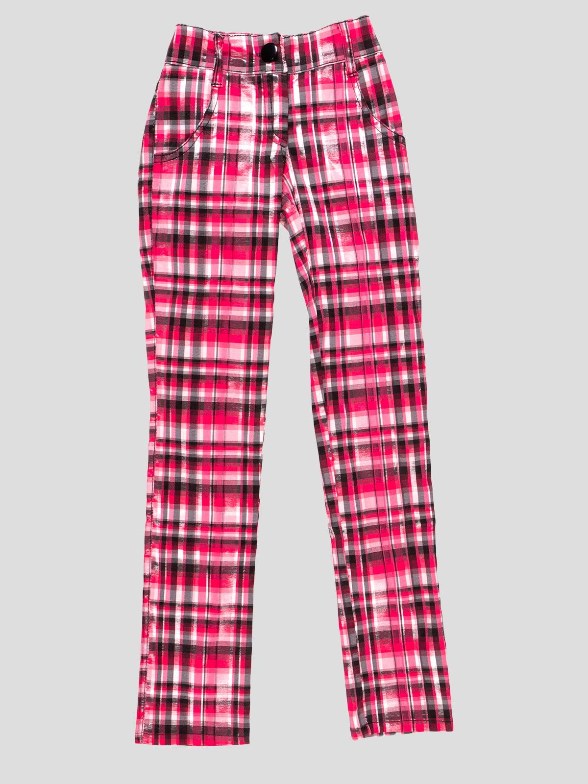 Штани рожеві в клітинку | 4712400