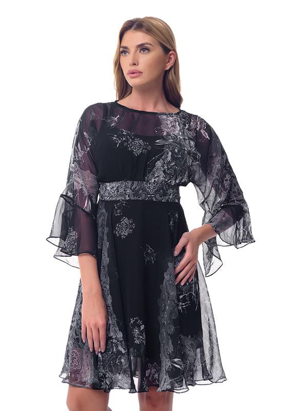 Платье черное с принтом | 4628061
