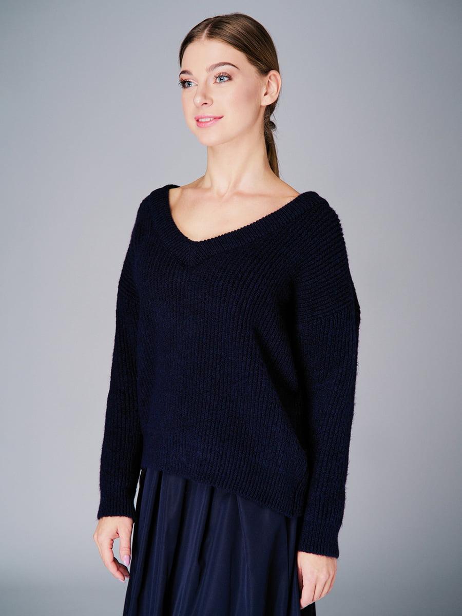 Пуловер темно-синій | 4740646 | фото 2