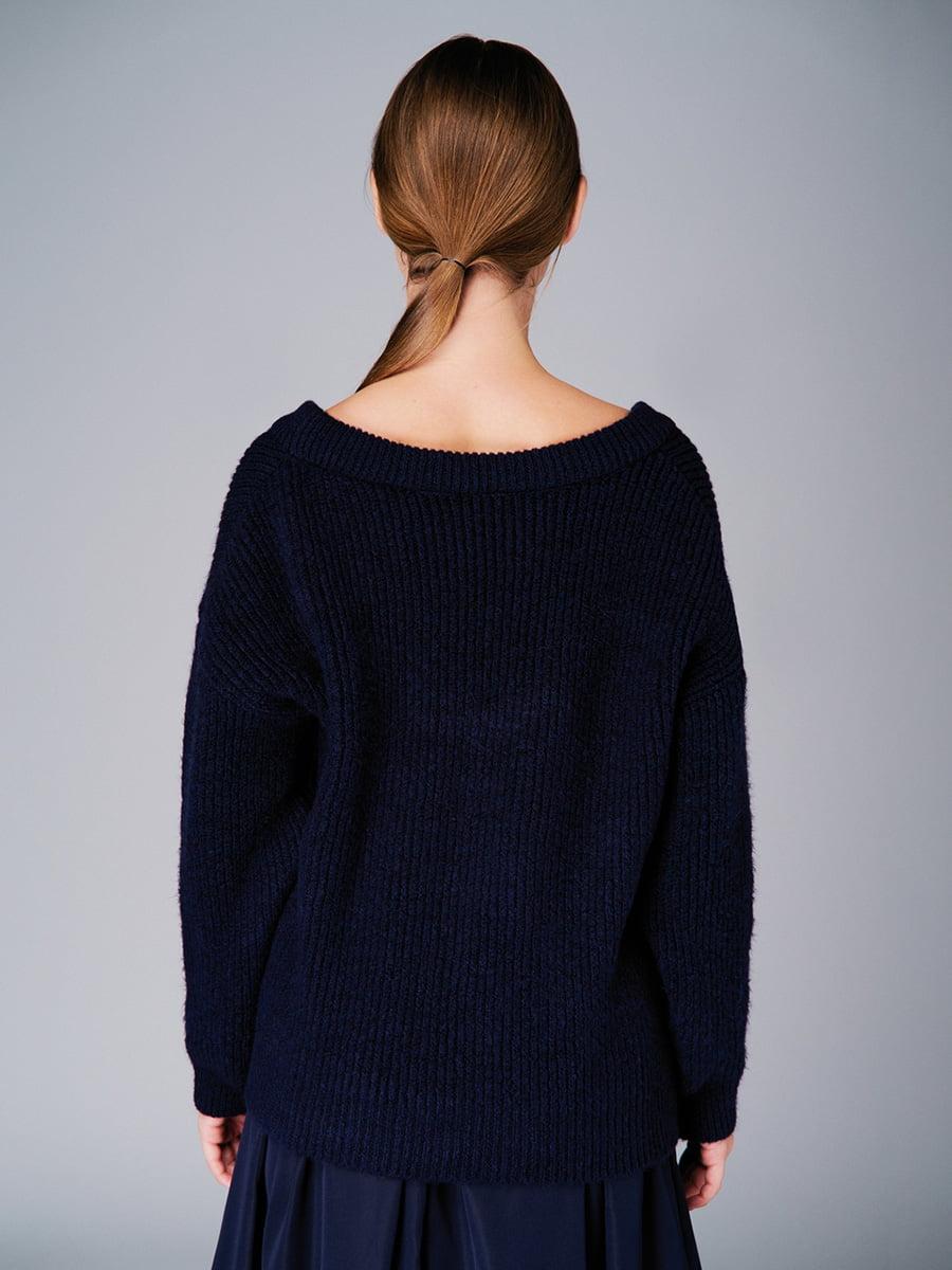Пуловер темно-синій | 4740646 | фото 3