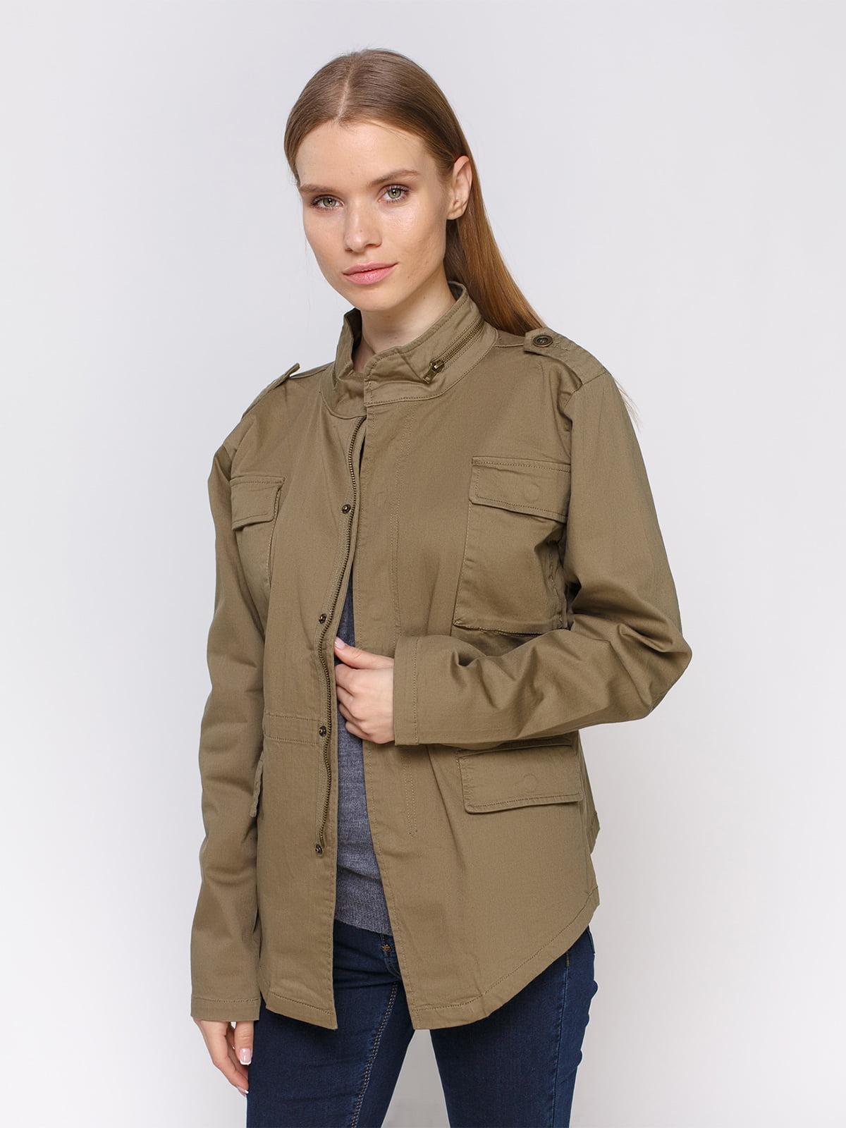 Куртка цвета хаки | 4560169