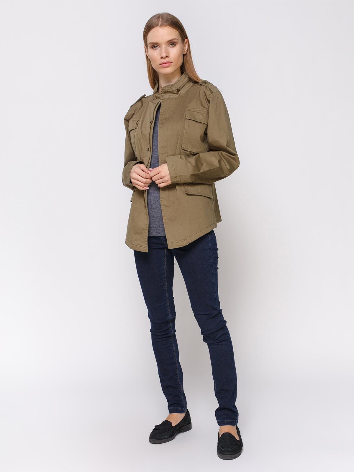 Куртка цвета хаки | 4560169 | фото 2