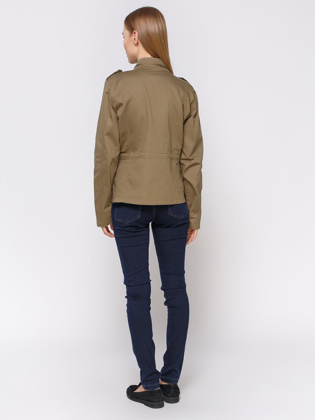 Куртка цвета хаки | 4560169 | фото 3