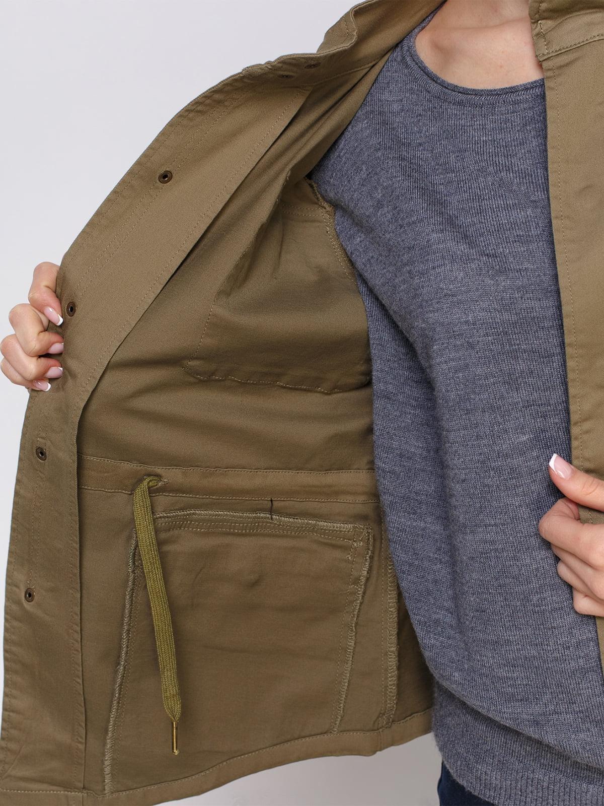 Куртка цвета хаки | 4560169 | фото 4