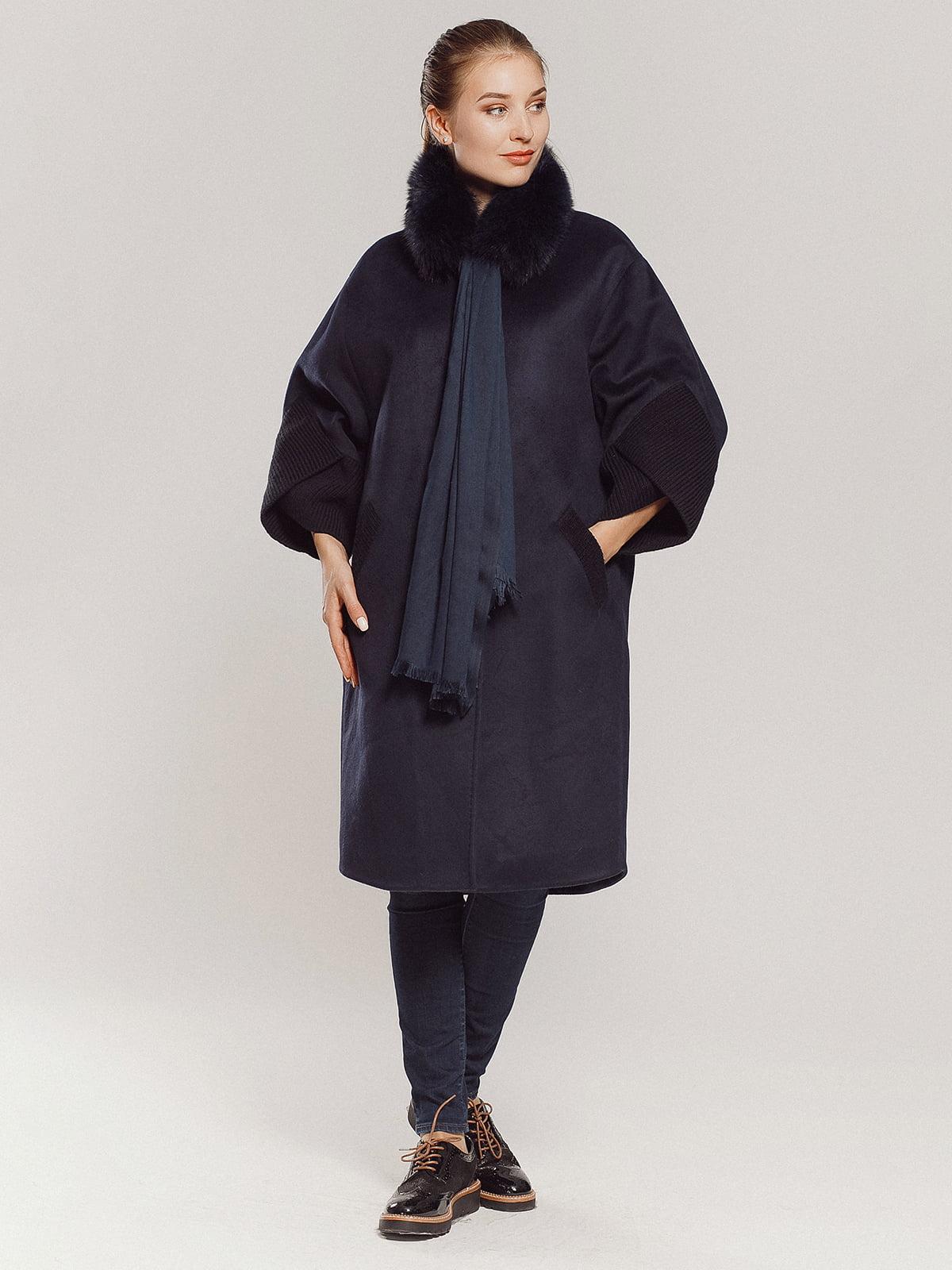 Пальто темно-синее | 4739300 | фото 12