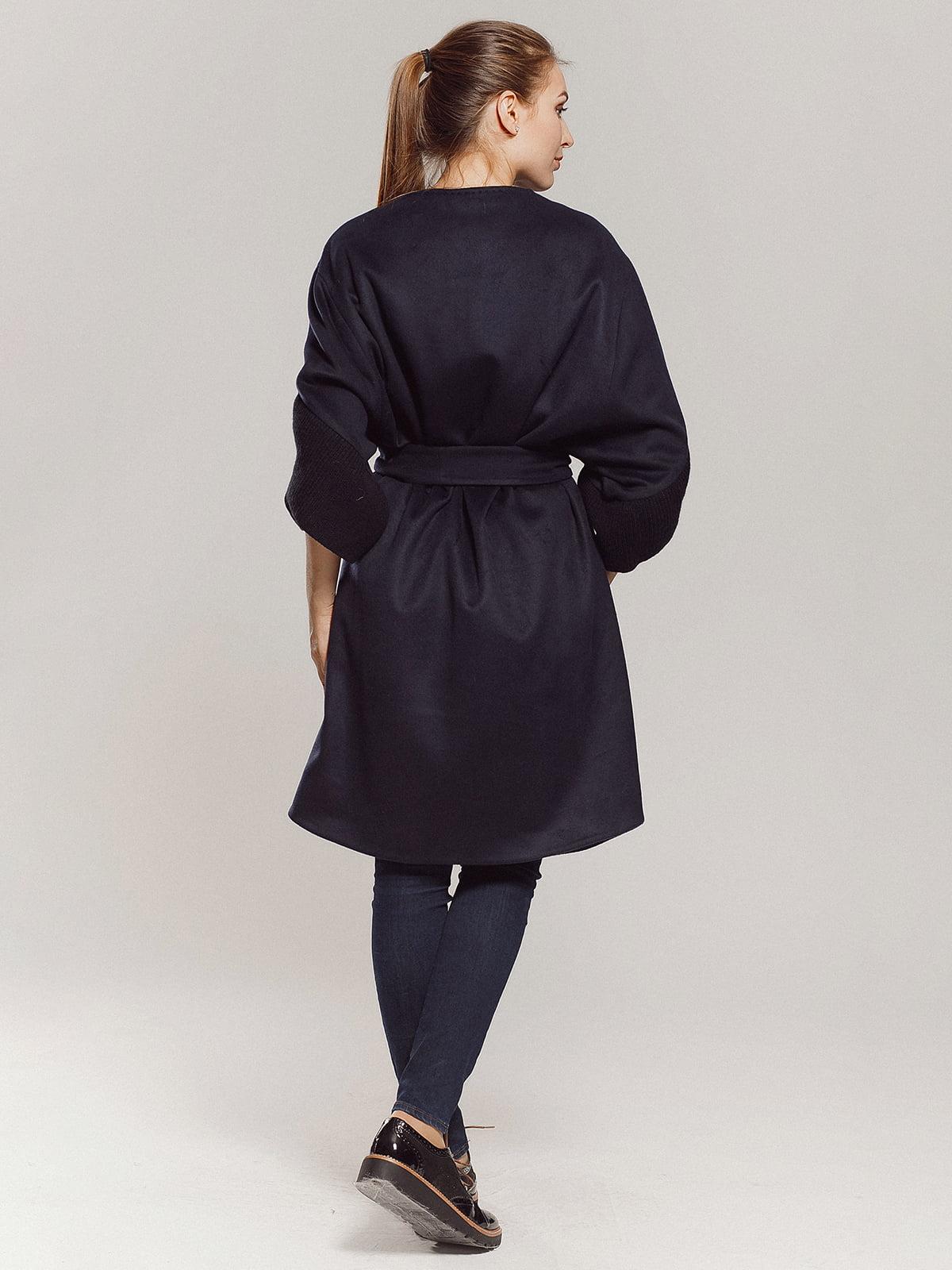 Пальто темно-синее | 4739300 | фото 18