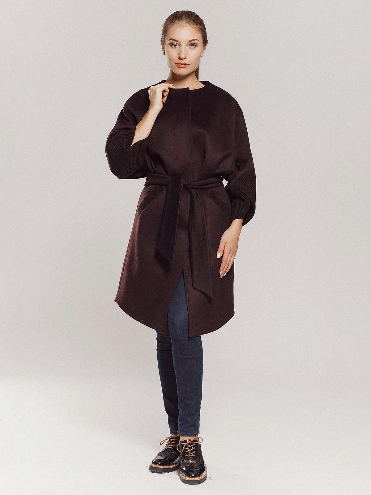Пальто коричневое | 4739303 | фото 17