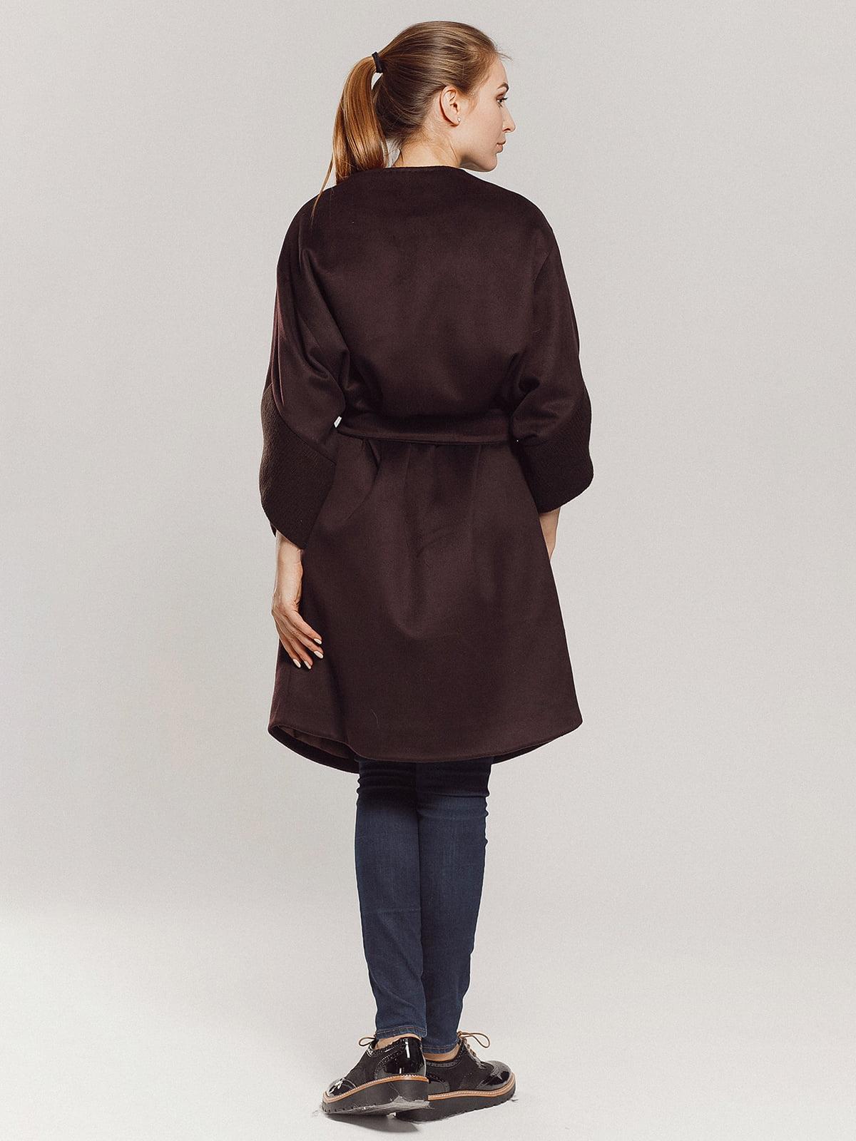 Пальто коричневое | 4739303 | фото 19