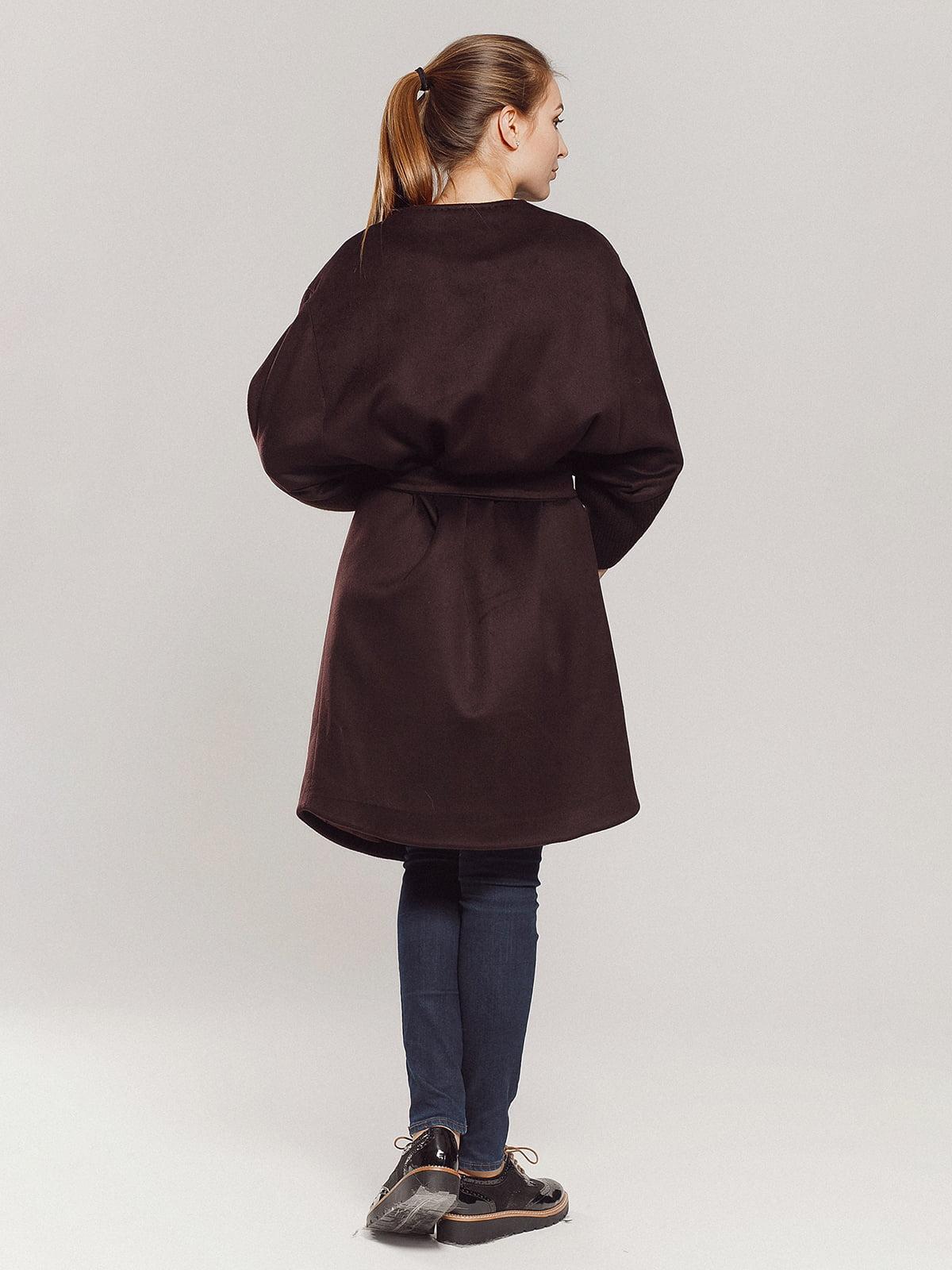 Пальто коричневое | 4739303 | фото 20