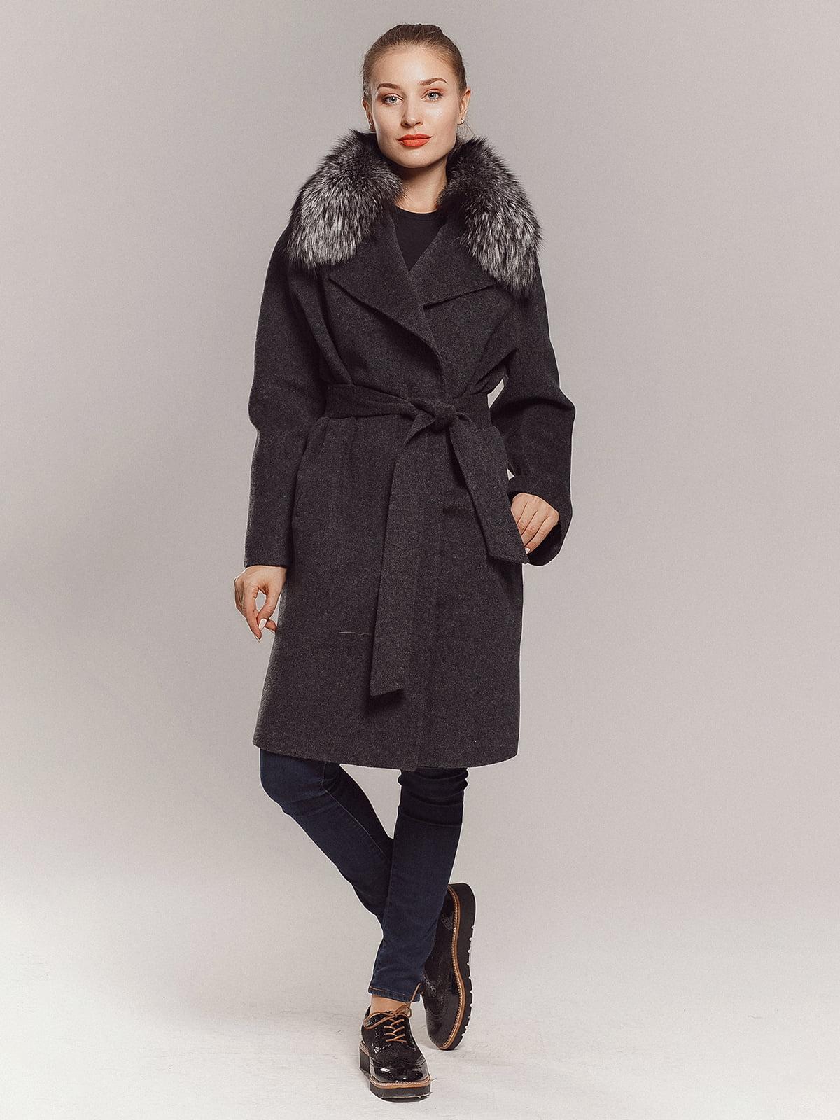 Пальто сіре | 4739366 | фото 5