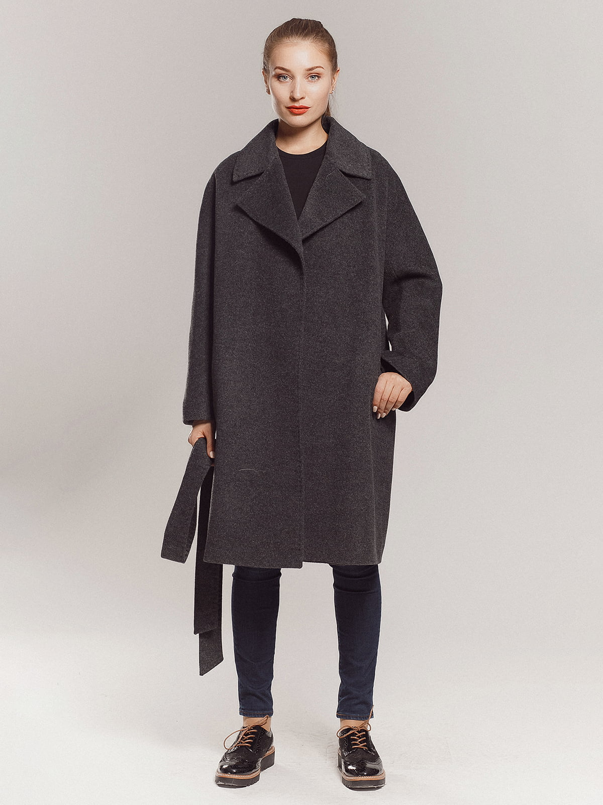 Пальто серое | 4739366 | фото 7