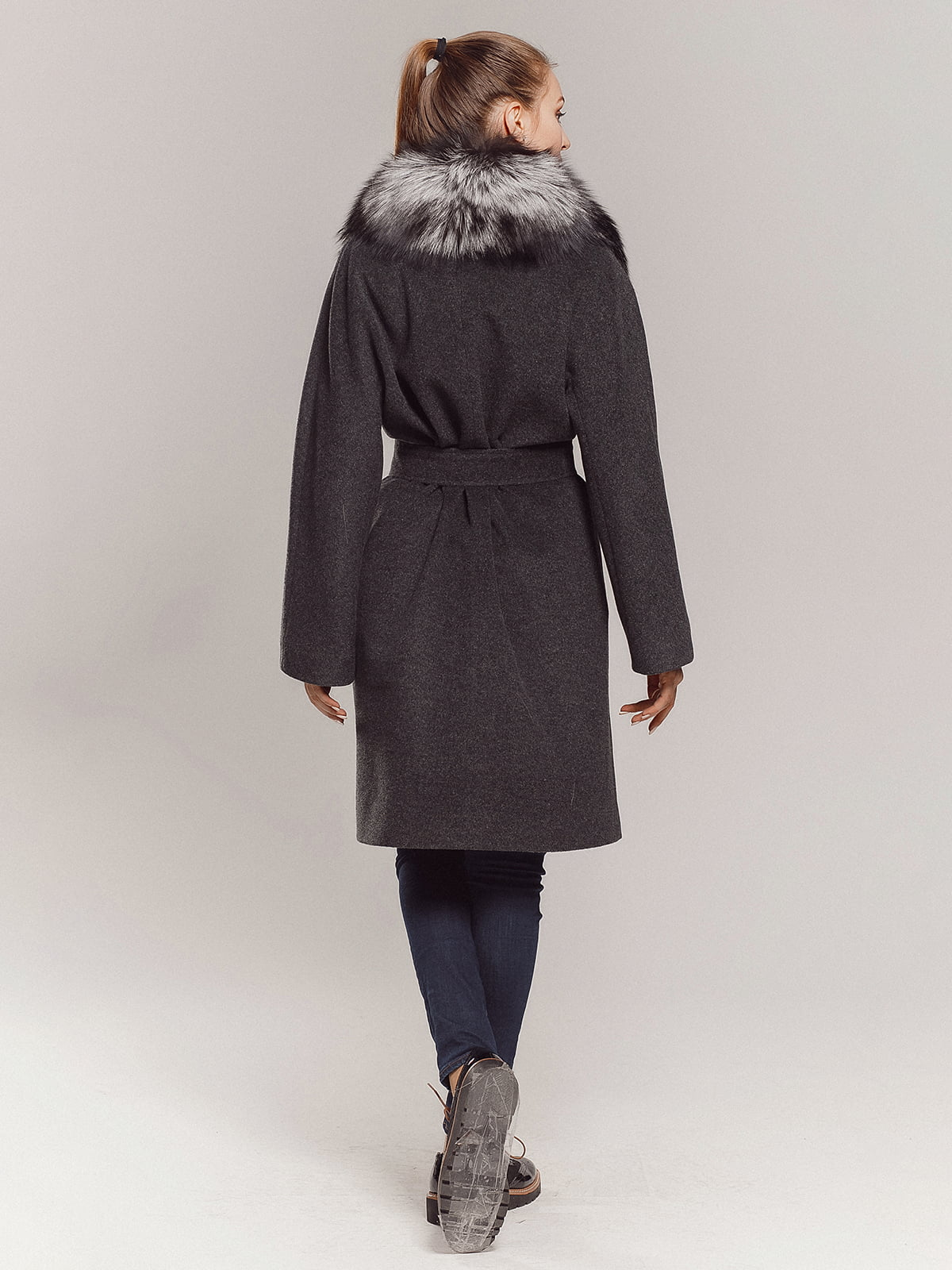 Пальто серое | 4739366 | фото 8