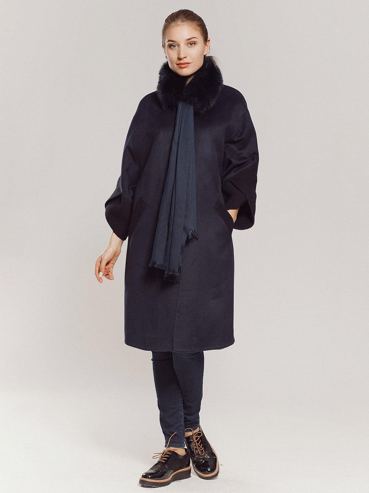 Пальто темно-синее | 4739300 | фото 11
