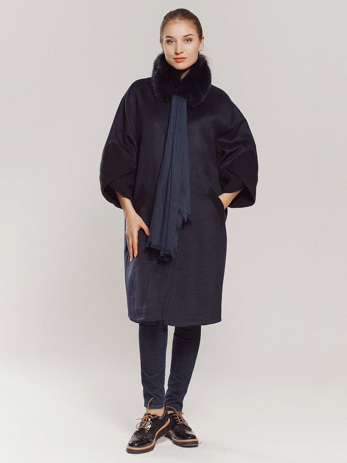 Пальто темно-синее | 4739300 | фото 16