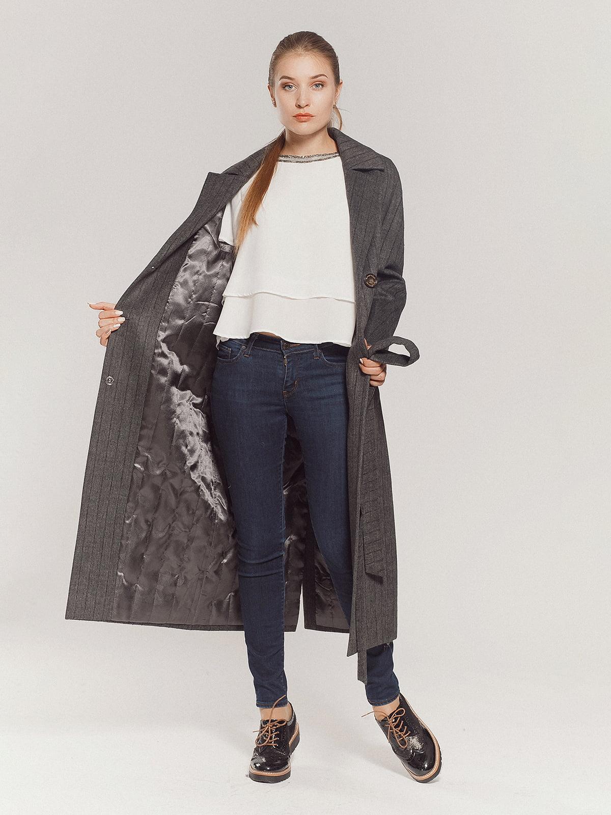 Пальто серое | 4739331 | фото 7