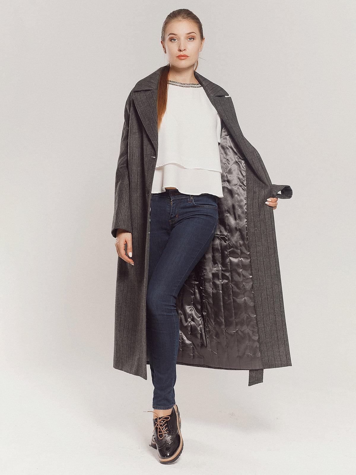 Пальто серое | 4739331 | фото 8
