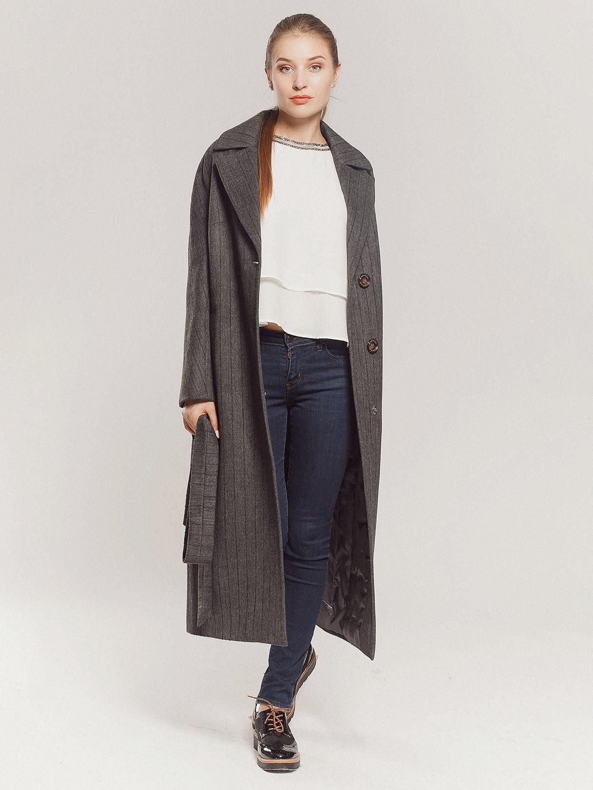 Пальто серое | 4739331 | фото 9