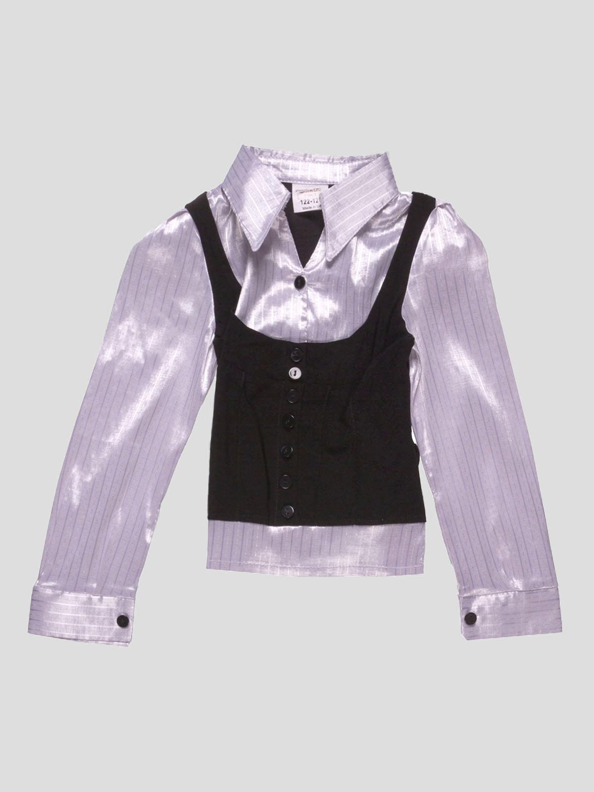Блуза бело-черная в полоску | 4740881