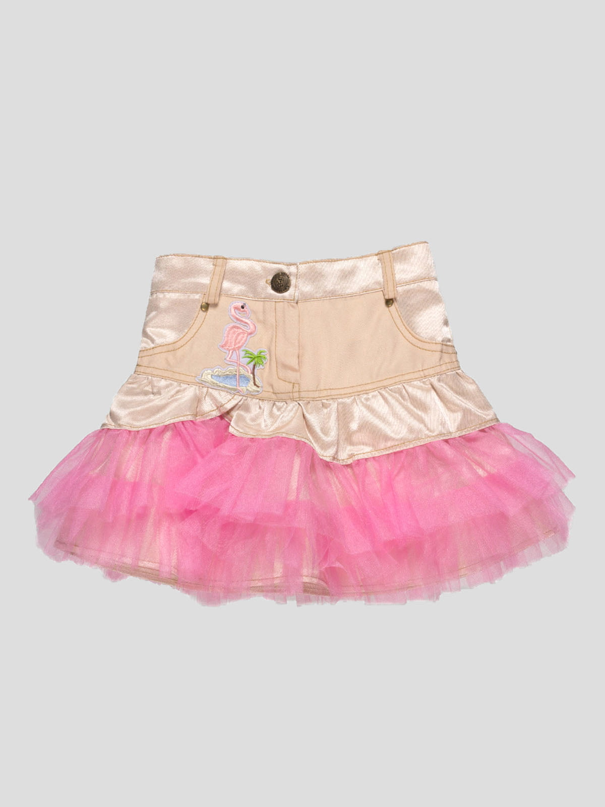 Юбка бежево-розовая | 4740883