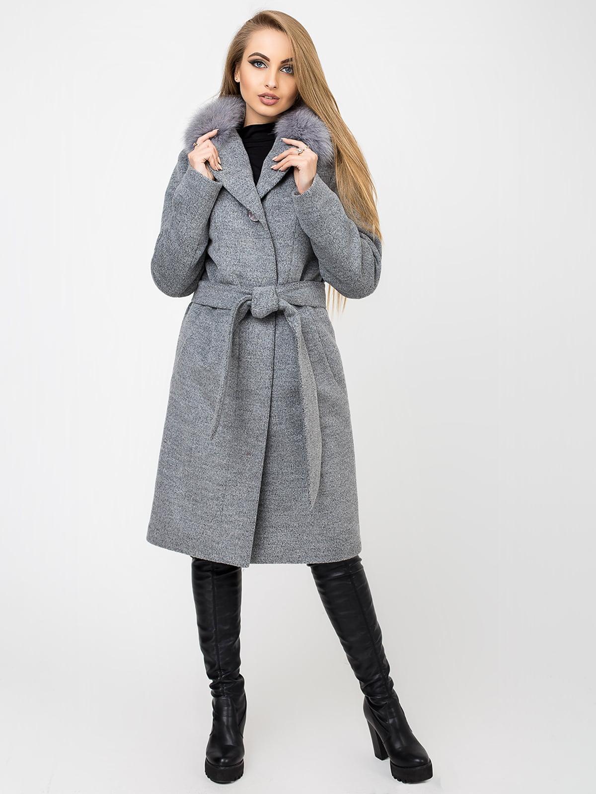 Пальто темно-сіре | 4761831