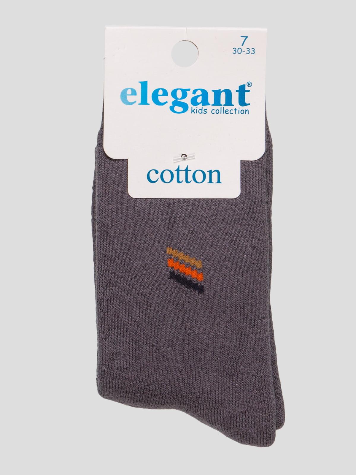Шкарпетки темно-сірі махрові | 4760529