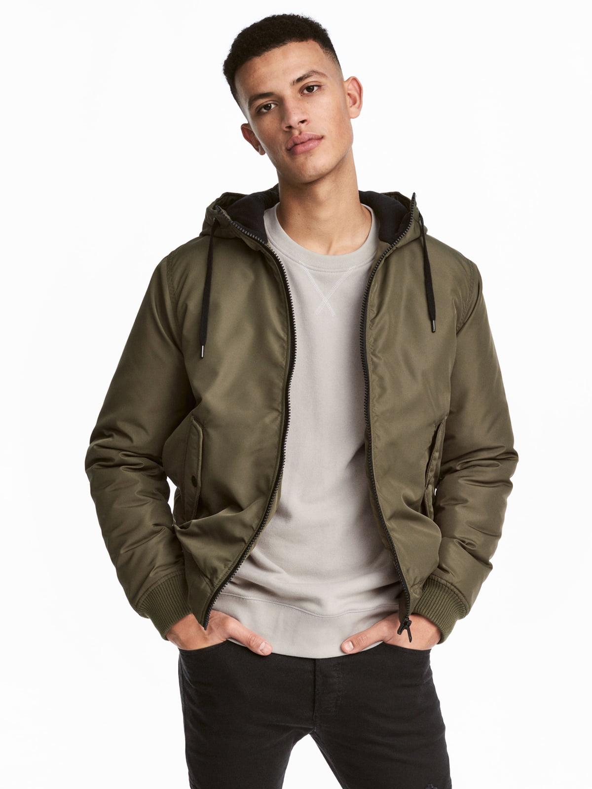 Куртка кольору хакі   4733541