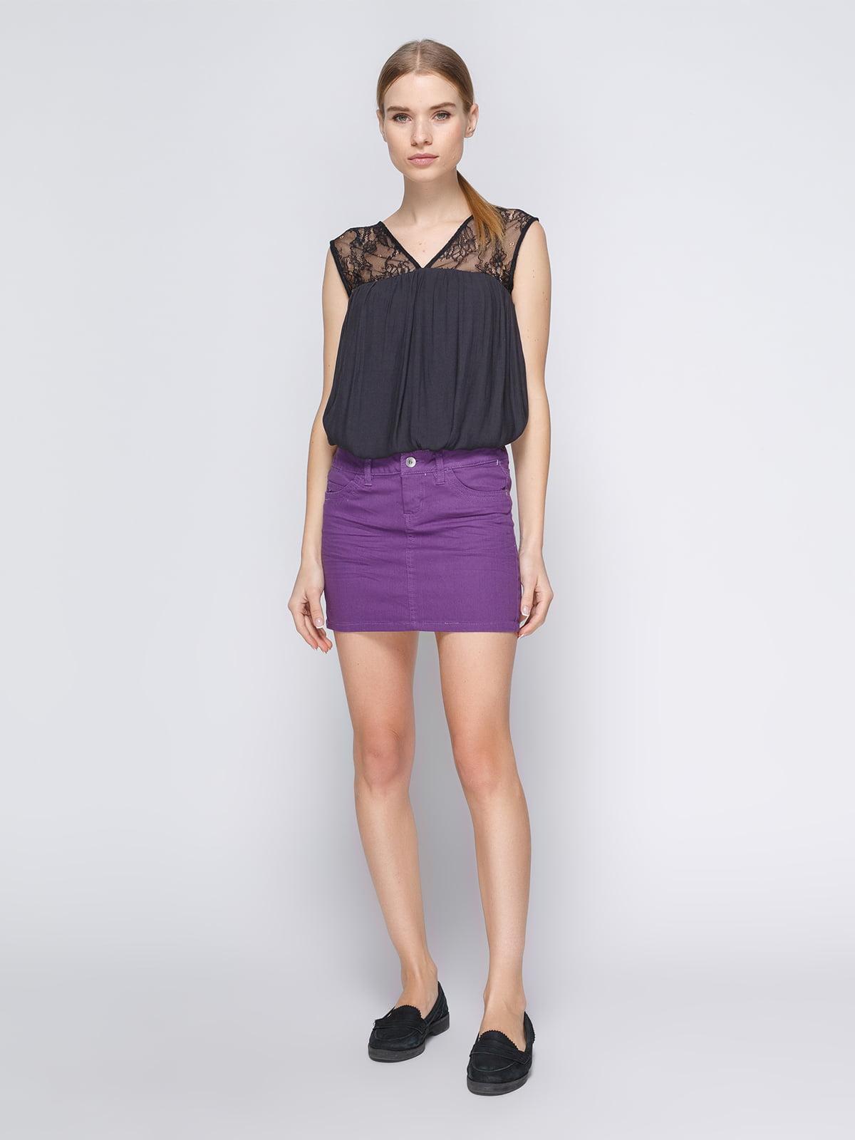 Юбка фиолетовая | 3783207 | фото 2